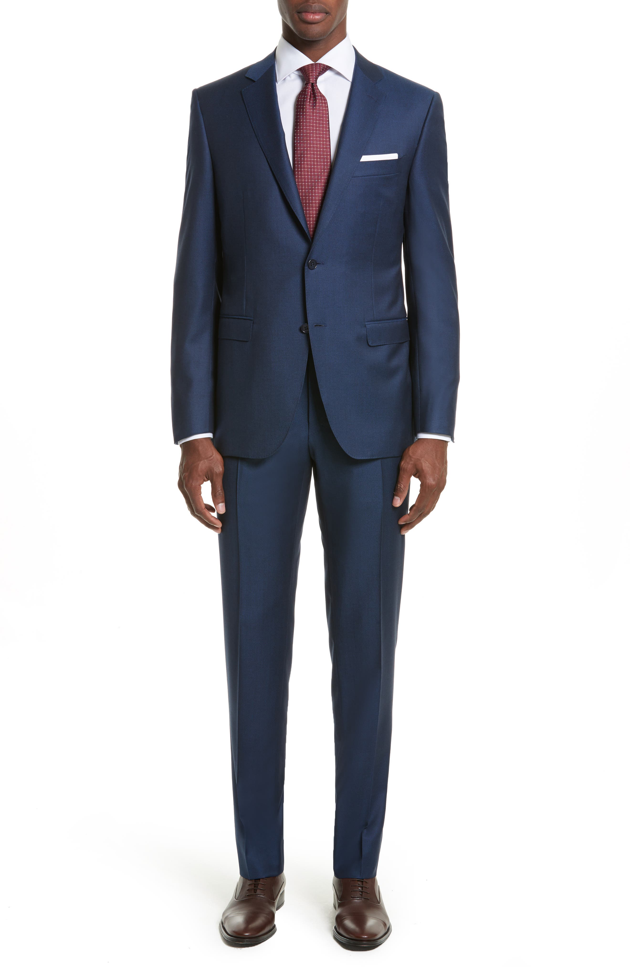 Classic Fit Solid Wool Suit,                         Main,                         color, 400