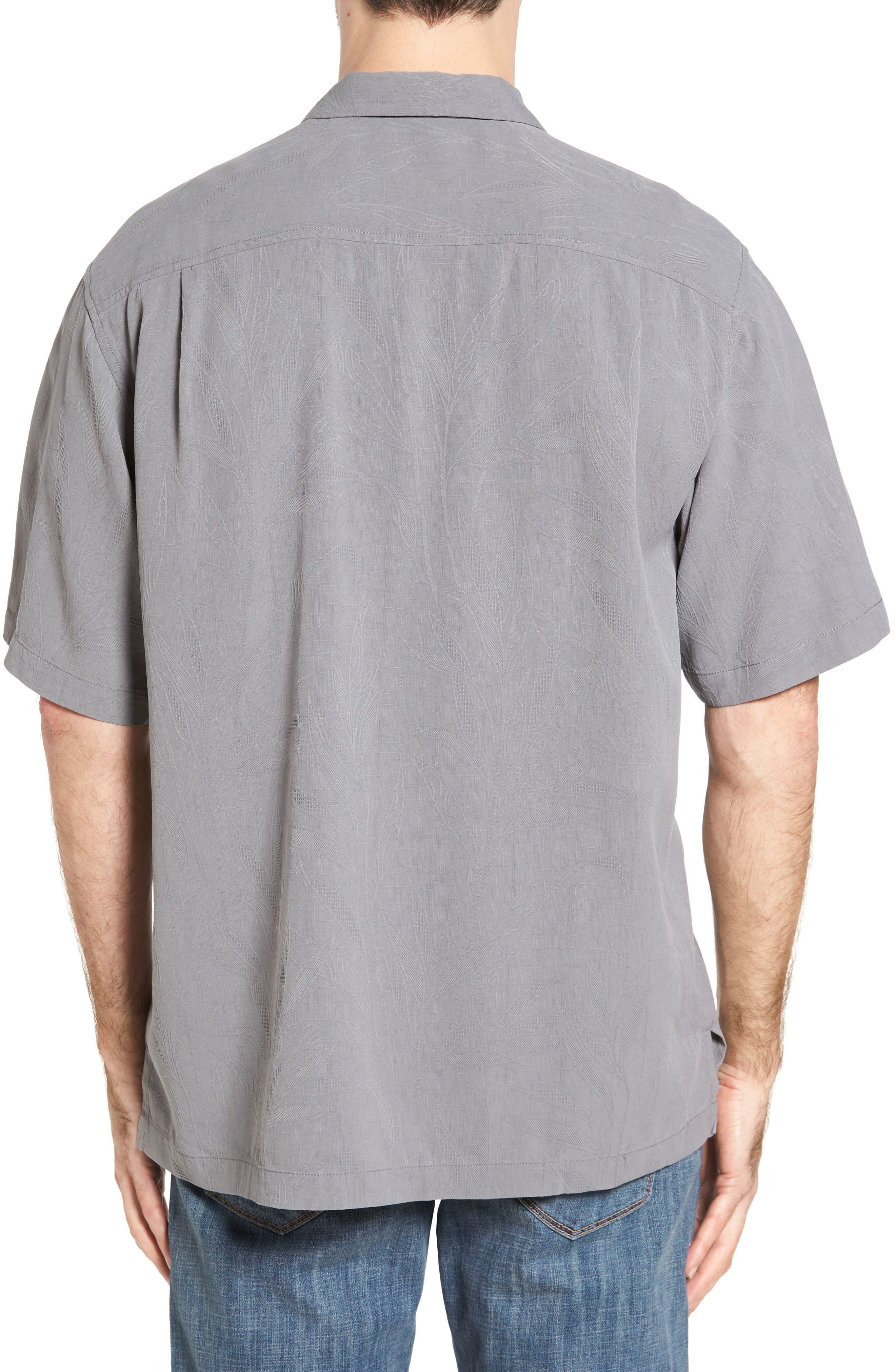 Islander Fronds Silk Camp Shirt,                             Alternate thumbnail 11, color,