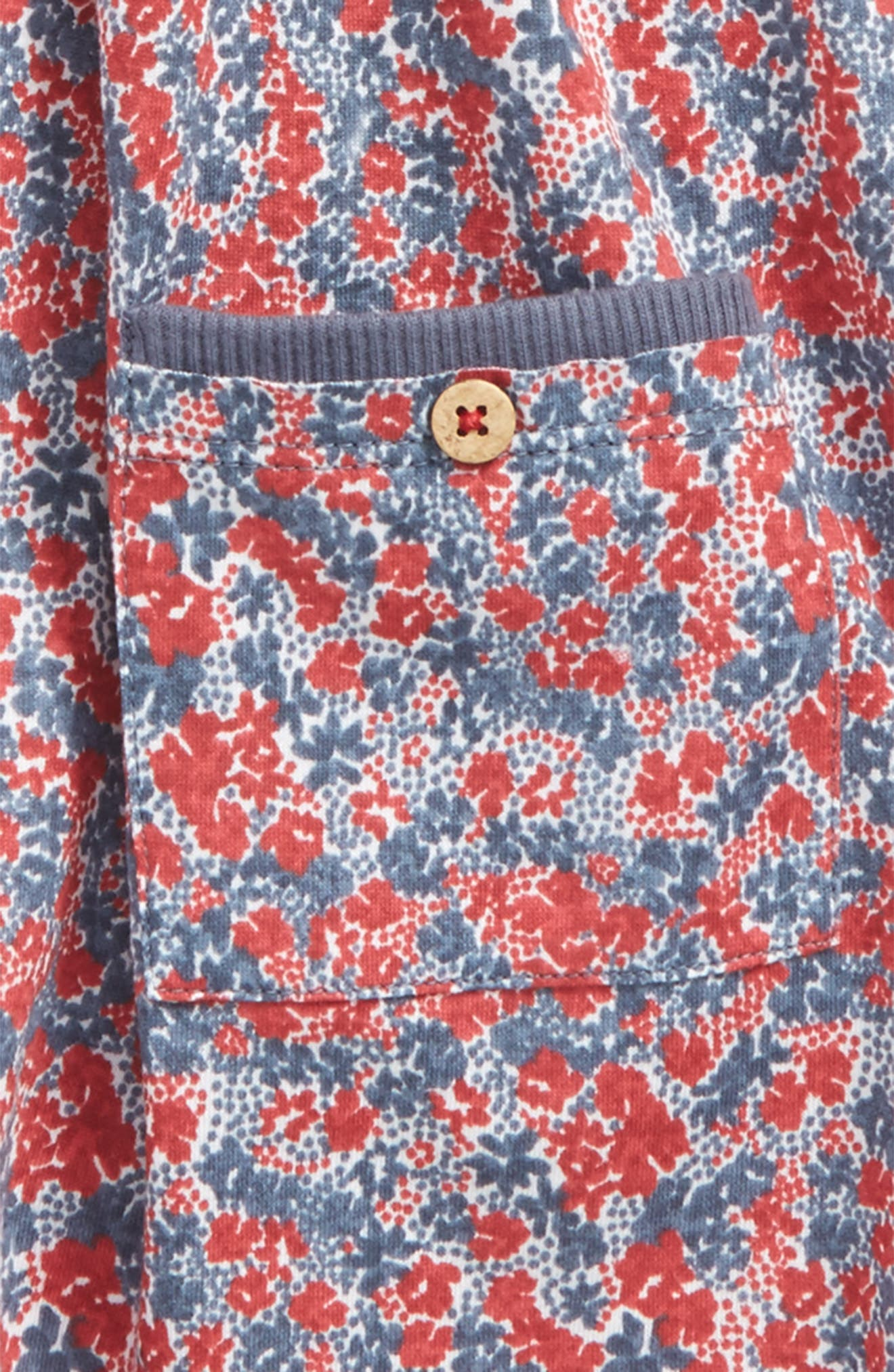 Ditsy Floral Tee,                             Alternate thumbnail 2, color,                             600