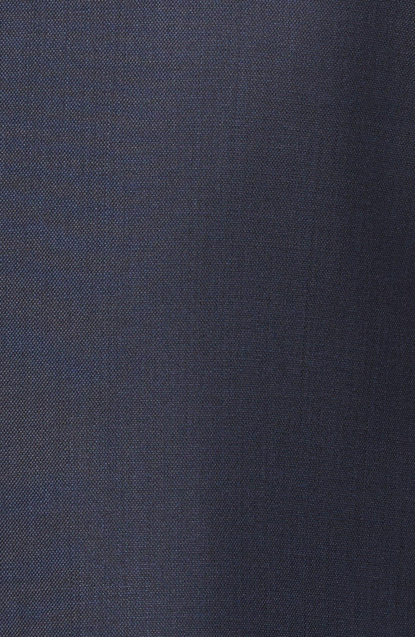 Jones Trim Fit Solid Wool Suit,                             Alternate thumbnail 7, color,                             BLUE