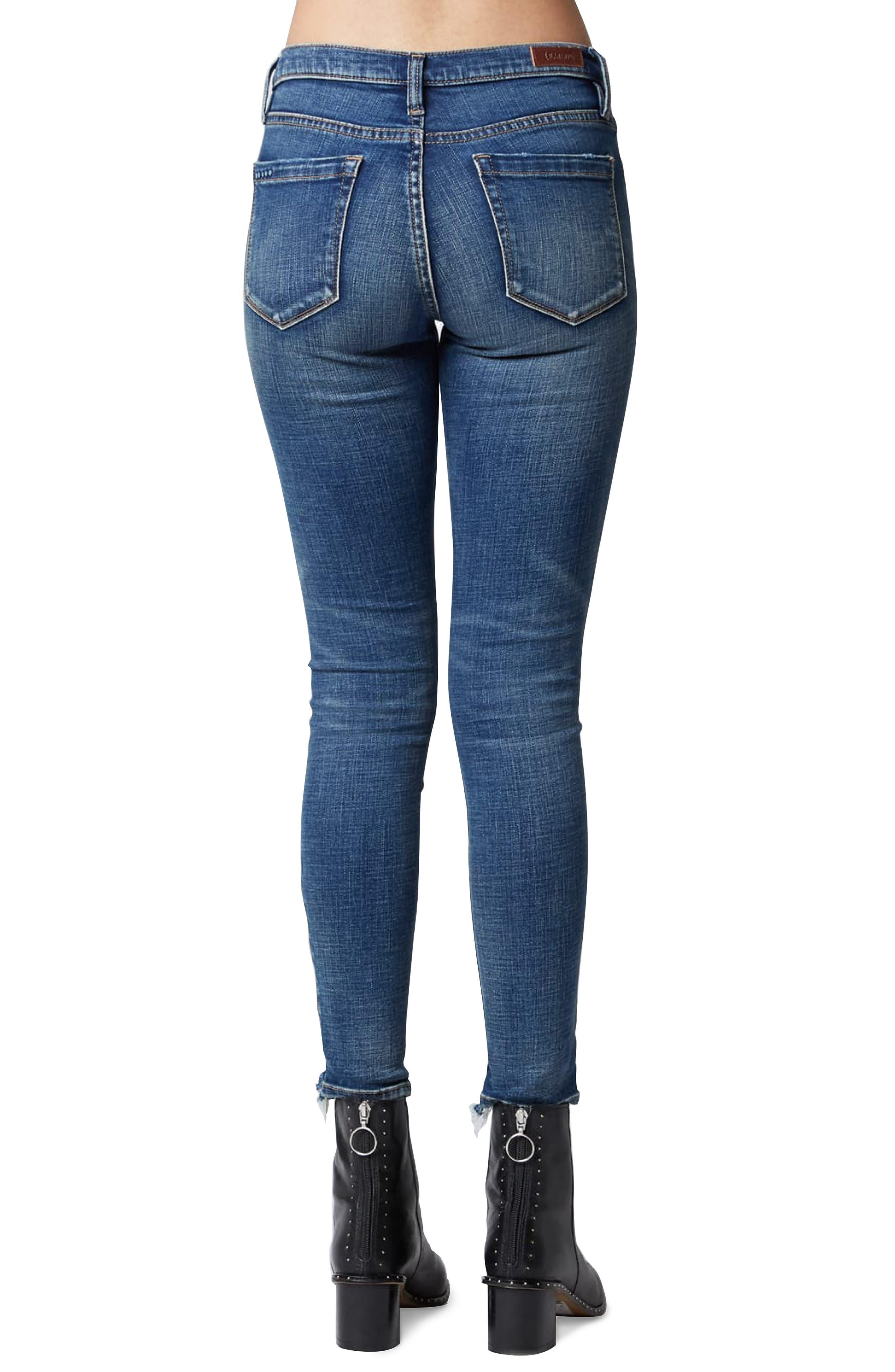 The Reade Stagger Hem Skinny Jeans,                             Alternate thumbnail 2, color,                             INTEROFFICE