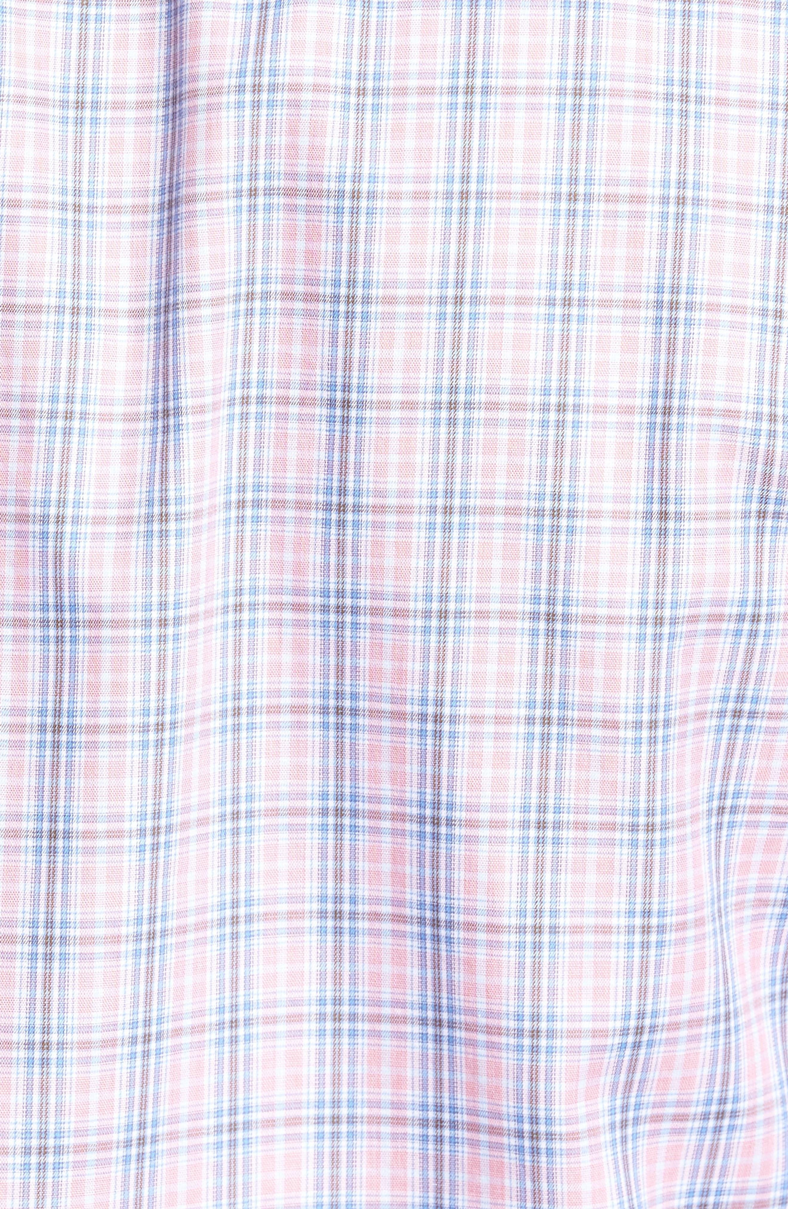 Peter Millar Desert Check Regular Fit Sport Shirt,                             Alternate thumbnail 5, color,                             617