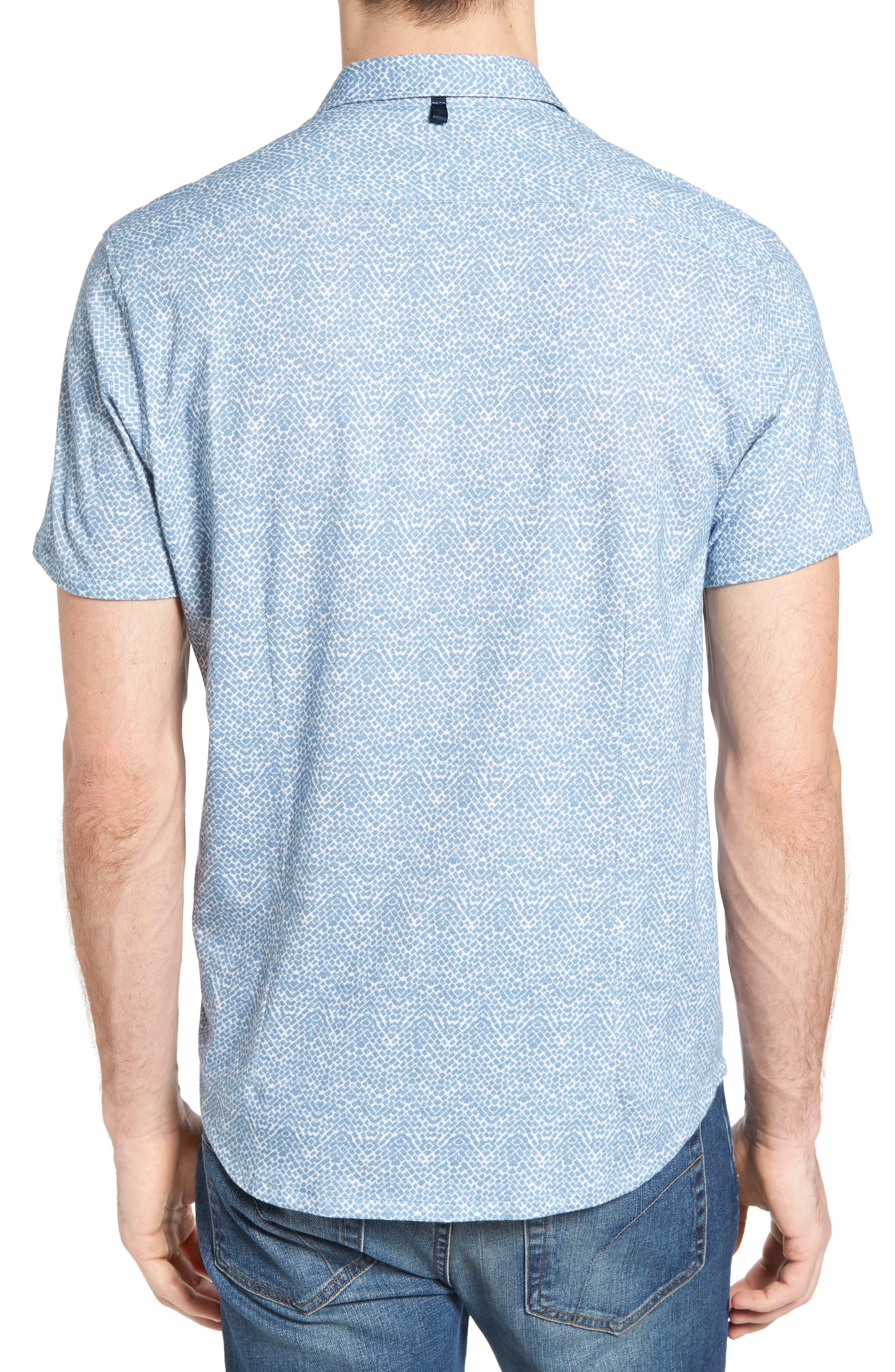 Metropolitan Brick Slim Fit Linen Sport Shirt,                             Alternate thumbnail 2, color,                             450
