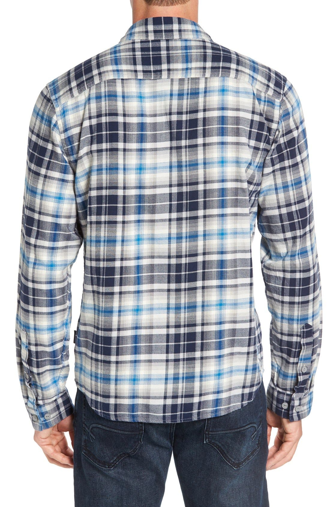 Regular Fit Organic Cotton Flannel Shirt,                             Alternate thumbnail 23, color,