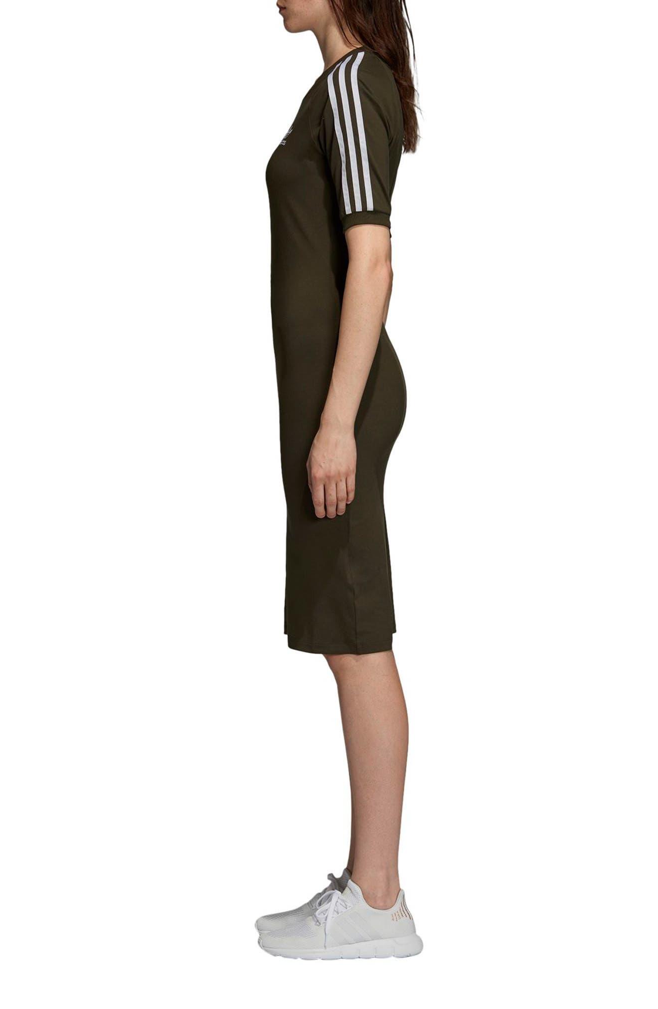 adidas 3-Stripes Dress,                             Alternate thumbnail 3, color,                             NIGHT CARGO