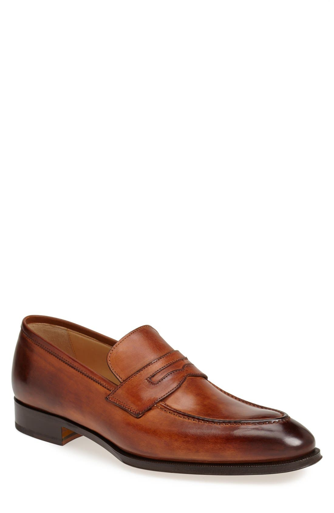Leather Penny Loafer,                             Main thumbnail 3, color,