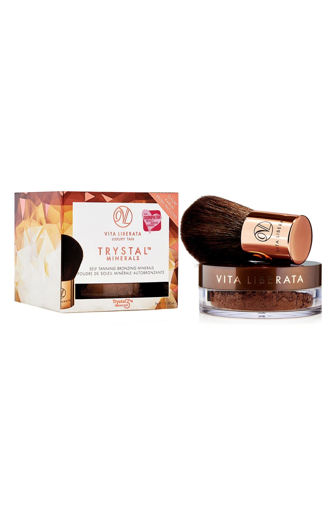 Trystal<sup>™</sup> Minerals Bronze Self Tanning Bronzing Minerals & Kabuki Brush,                             Alternate thumbnail 2, color,                             NO COLOR