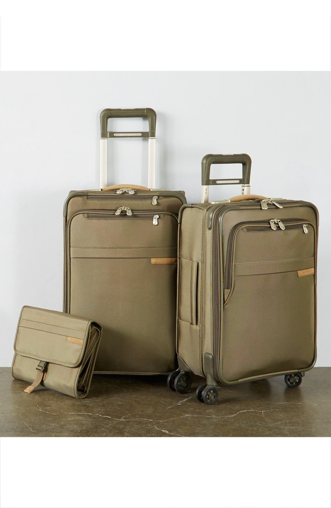 Baseline Domestic 22-Inch Expandable Rolling Carry-On,                             Alternate thumbnail 6, color,                             OLIVE