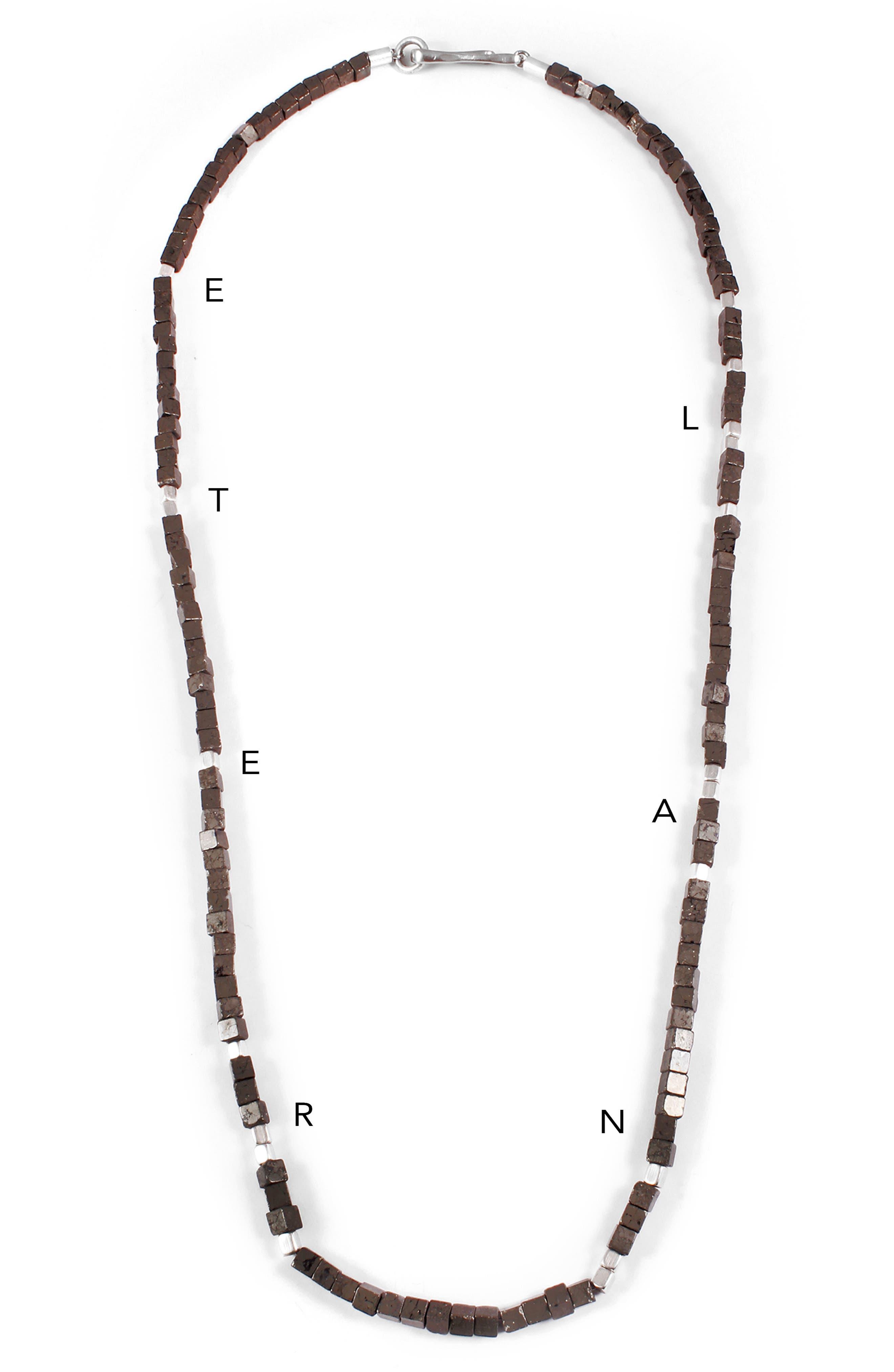 Eternal Morse Beaded Necklace,                             Alternate thumbnail 2, color,                             020