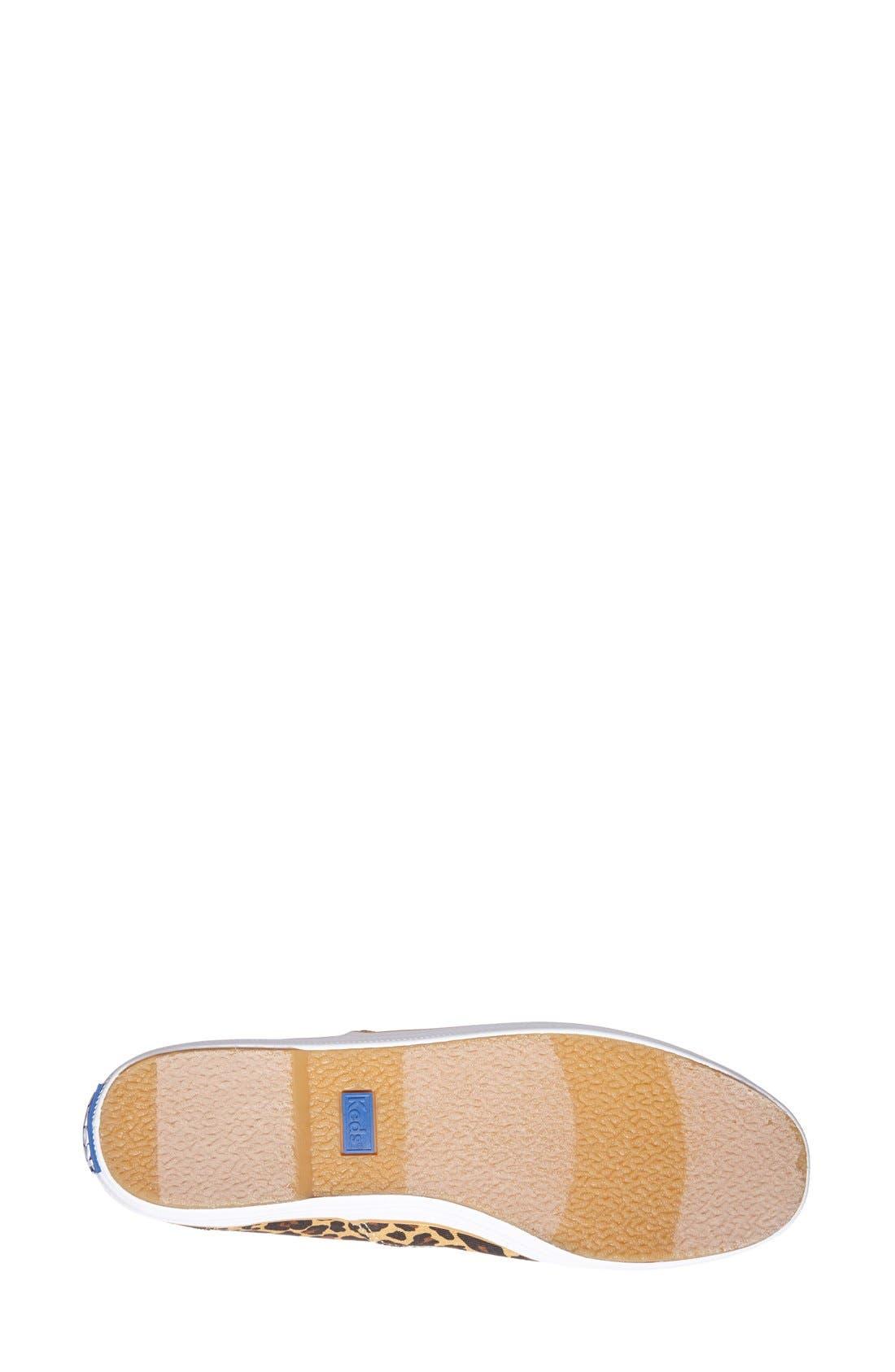 KEDS<SUP>®</SUP>,                             'Champion' Leopard Print Sneaker,                             Alternate thumbnail 3, color,                             230