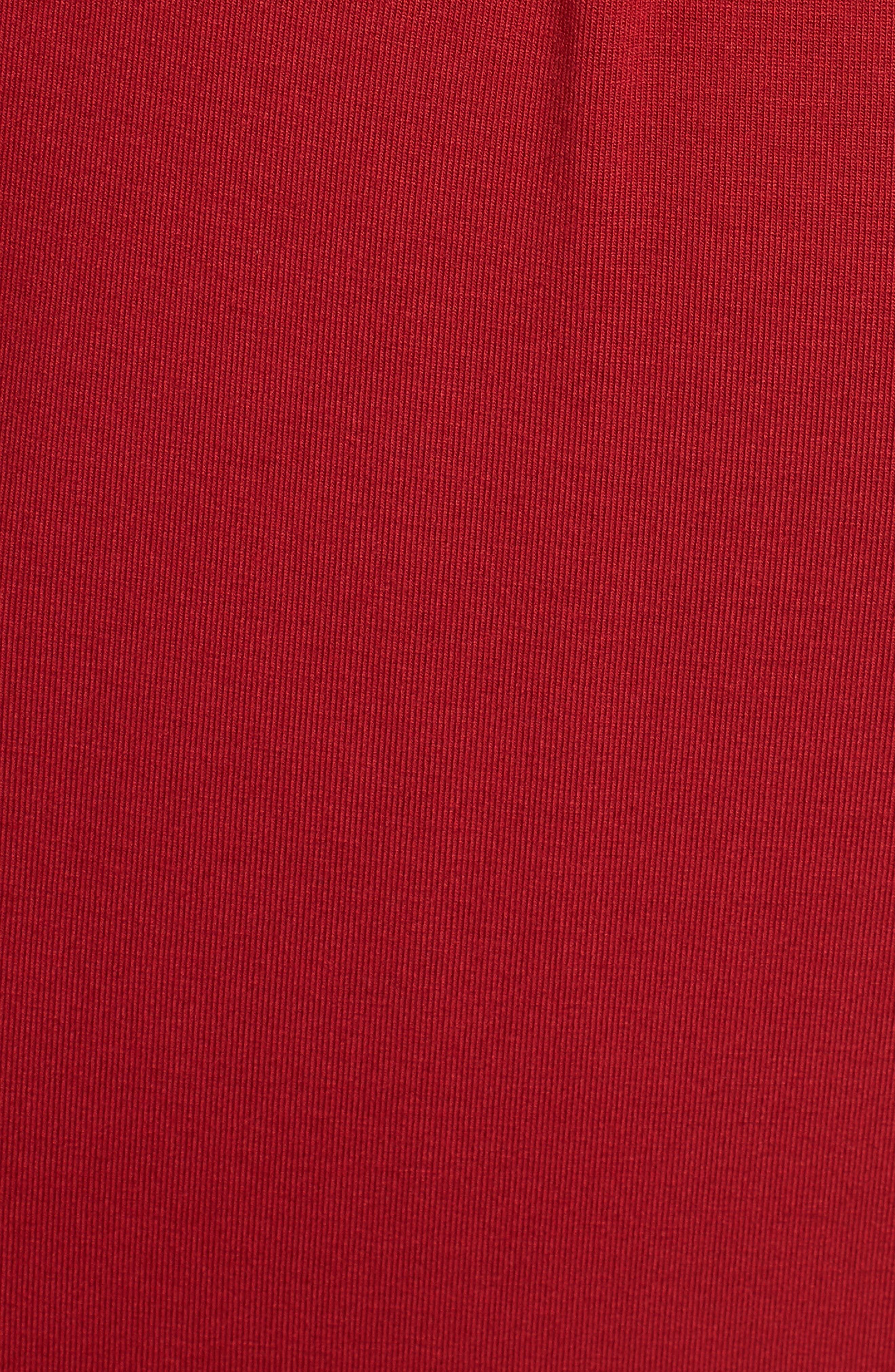 ISABELLA OLIVER,                             Gracia Surplice Maternity Dress,                             Alternate thumbnail 5, color,                             CARDAMOM RED