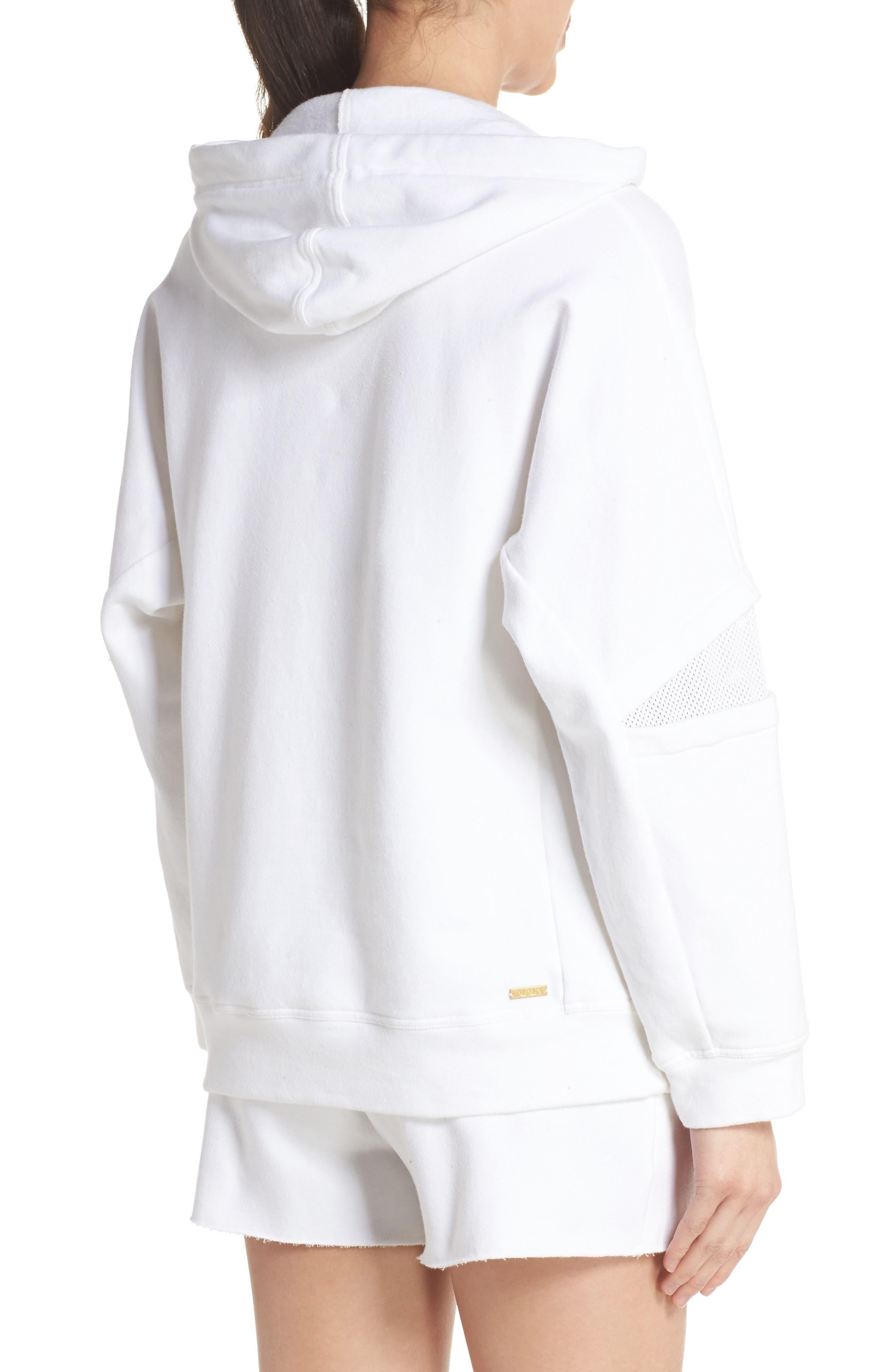 Notch Hoodie Sweatshirt,                             Alternate thumbnail 2, color,                             WHITE