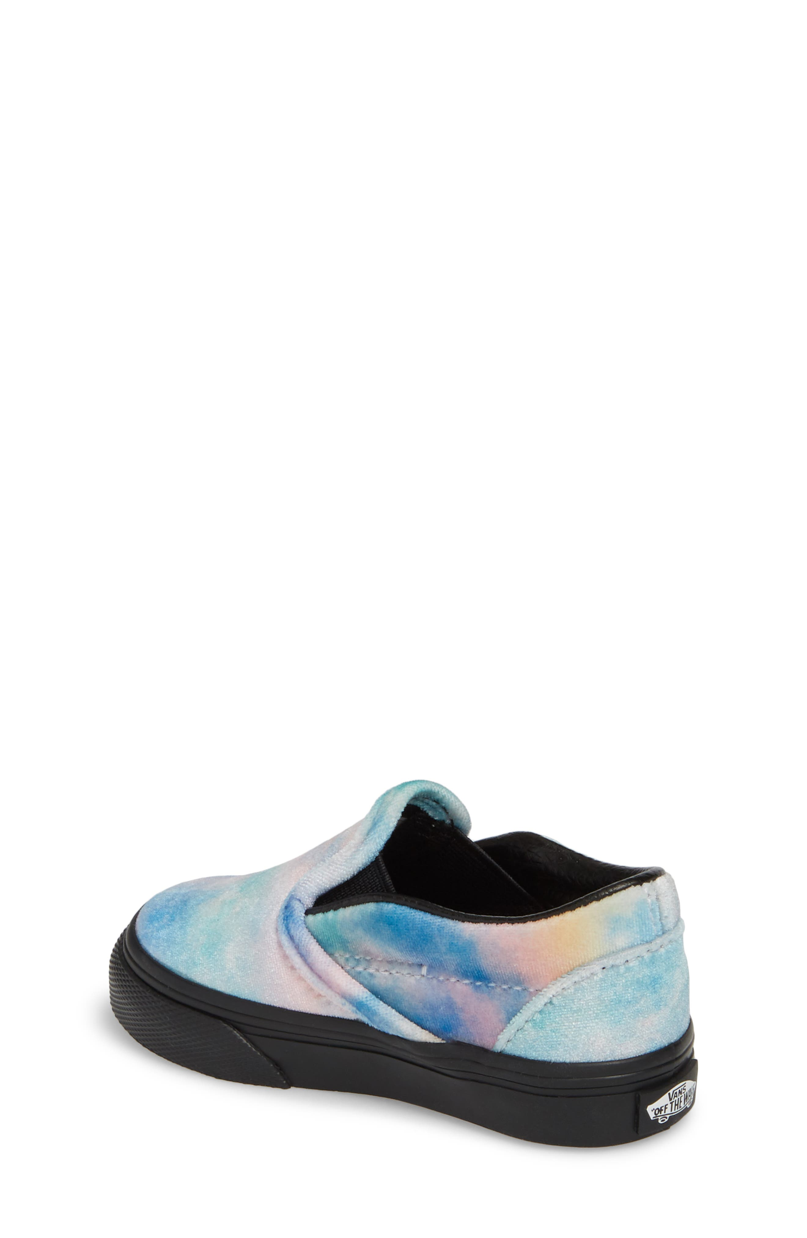 Classic Velvet Tie Dye Slip-On Sneaker,                             Alternate thumbnail 2, color,                             001