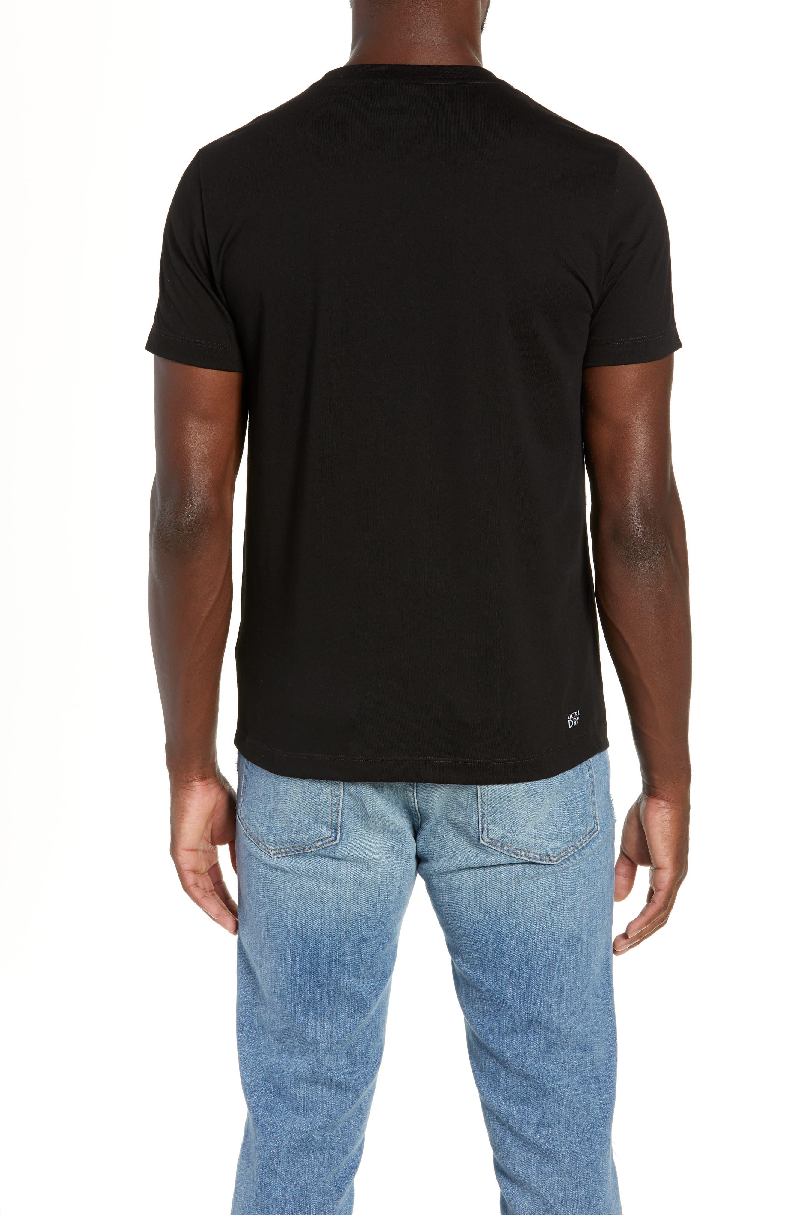 Ultra Dry Regular Fit Jersey T-Shirt,                             Alternate thumbnail 2, color,                             BLACK/ INKWELL WHITE