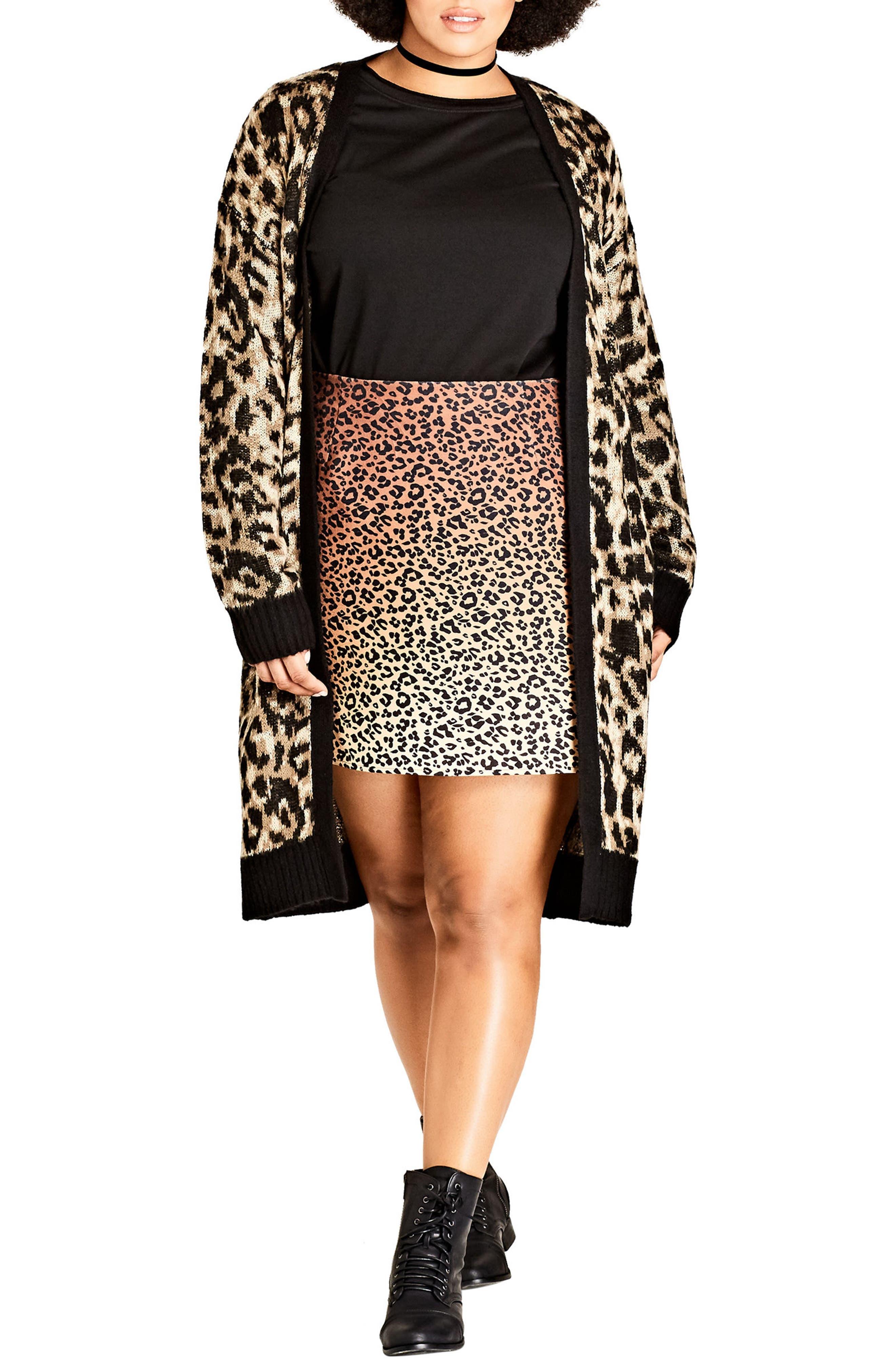 Leopard Lover Miniskirt,                             Alternate thumbnail 3, color,                             203