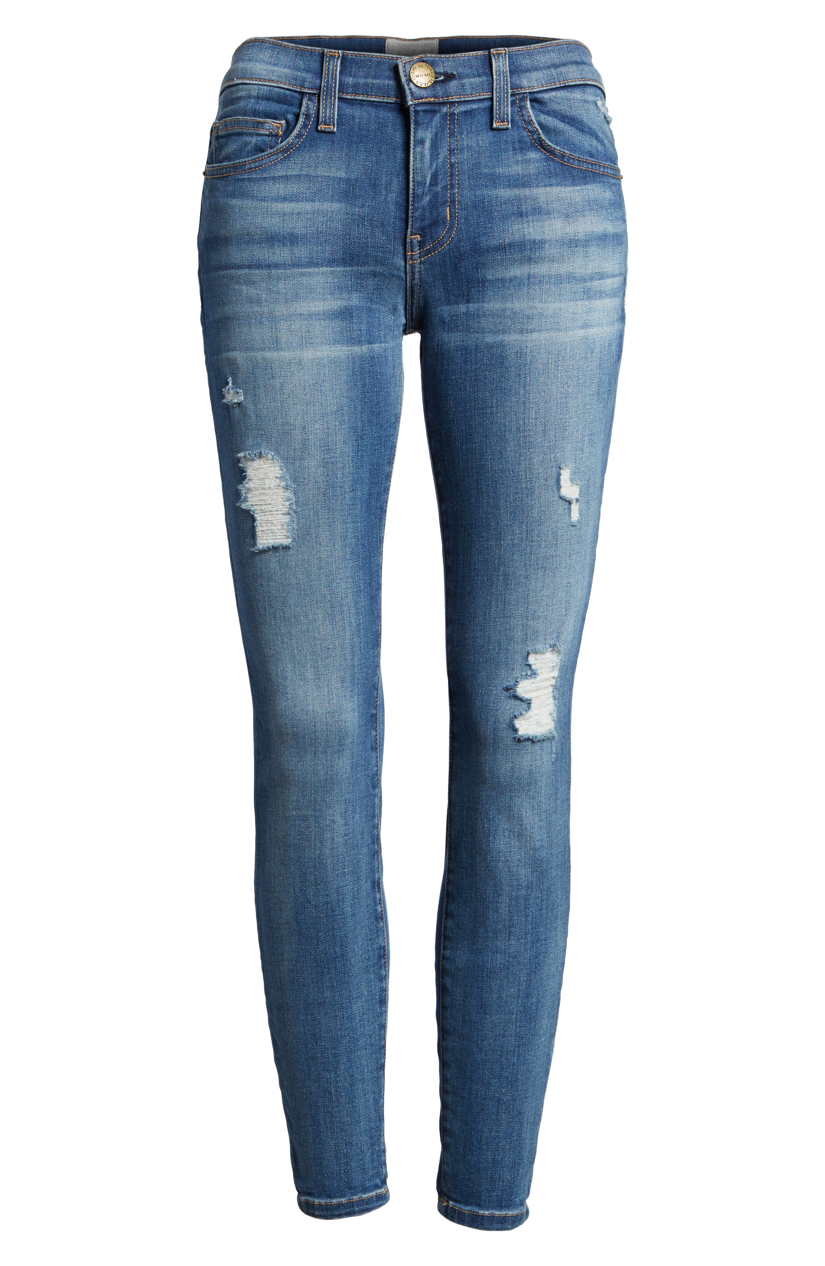 CURRENT/ELLIOTT 'The Stiletto' Destroyed Skinny Jeans, Main, color, 475