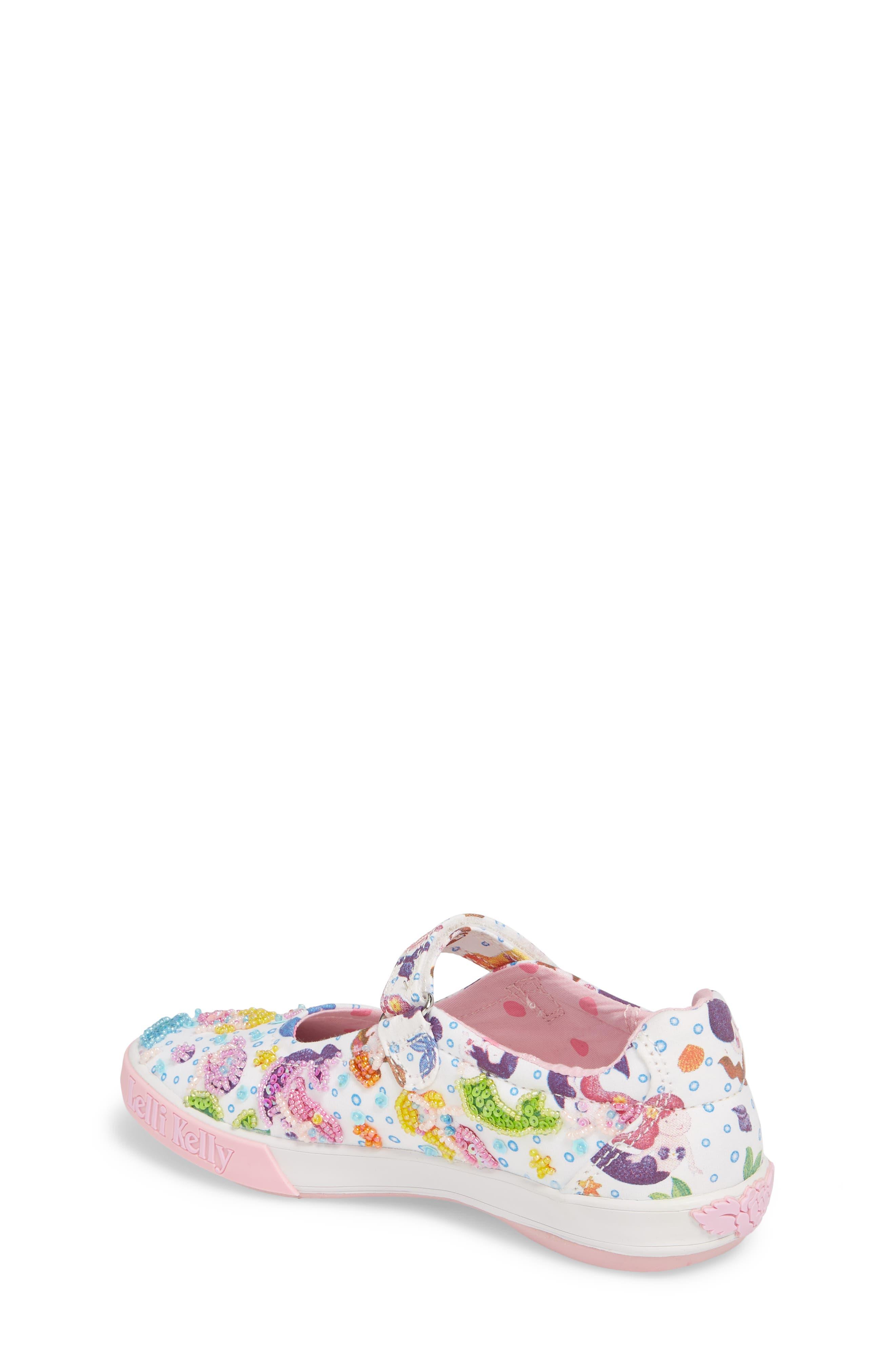 Beaded Mary Jane Sneaker,                             Alternate thumbnail 2, color,                             WHITE