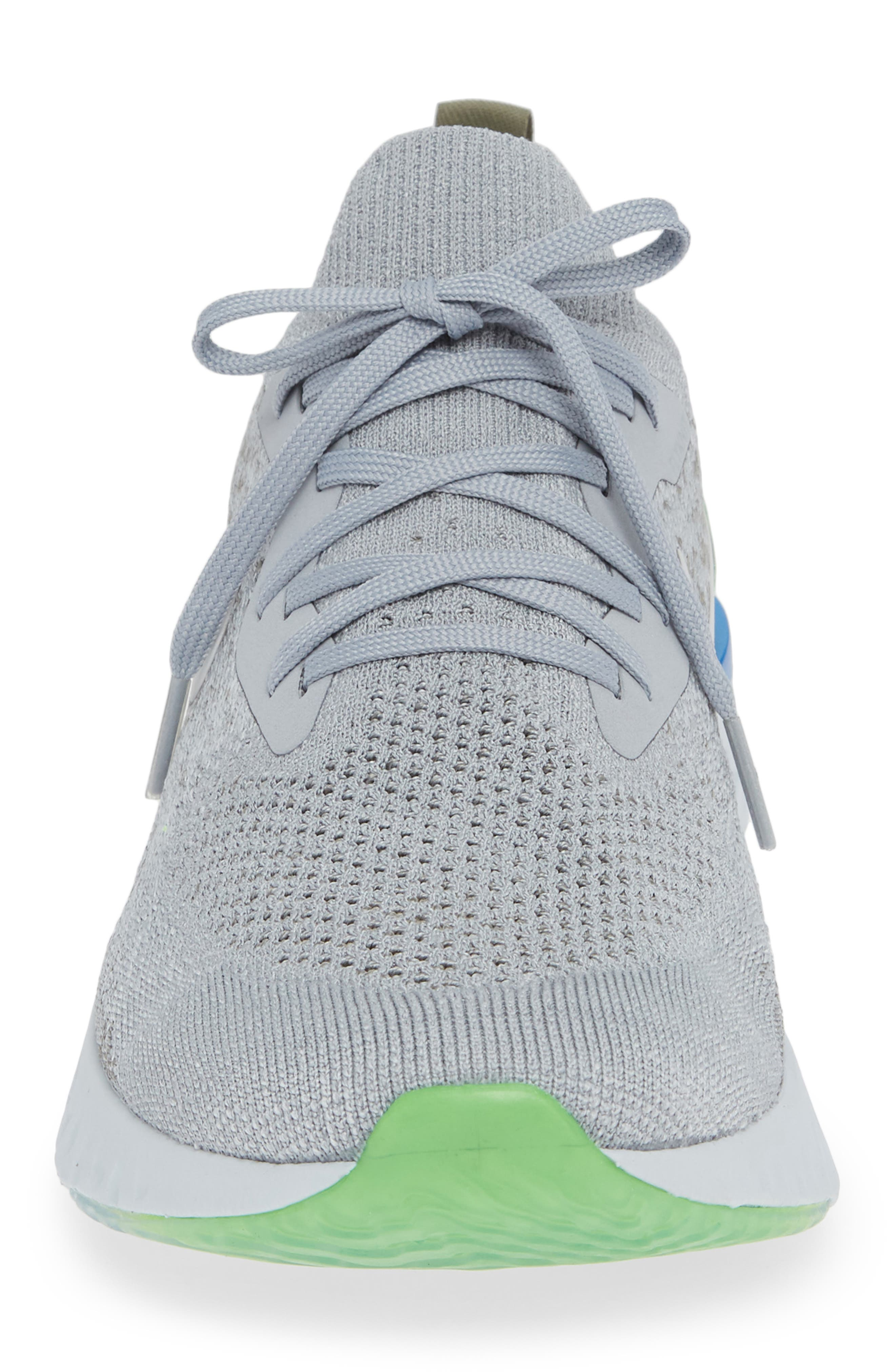 Epic React Flyknit Running Shoe,                             Alternate thumbnail 4, color,                             GREY