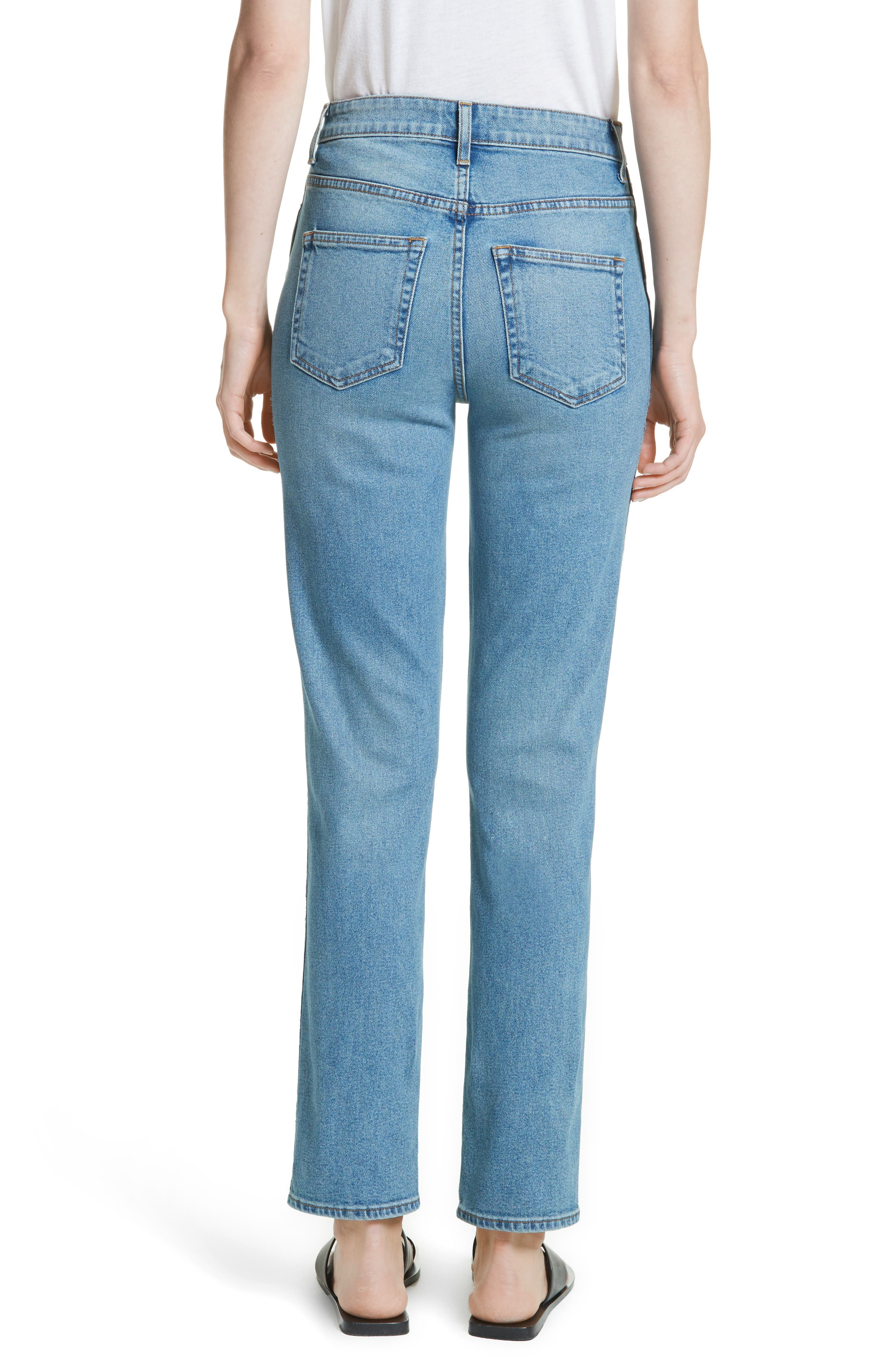 Victoria Straight Leg Jeans,                             Alternate thumbnail 2, color,                             MEDIUM CREASE