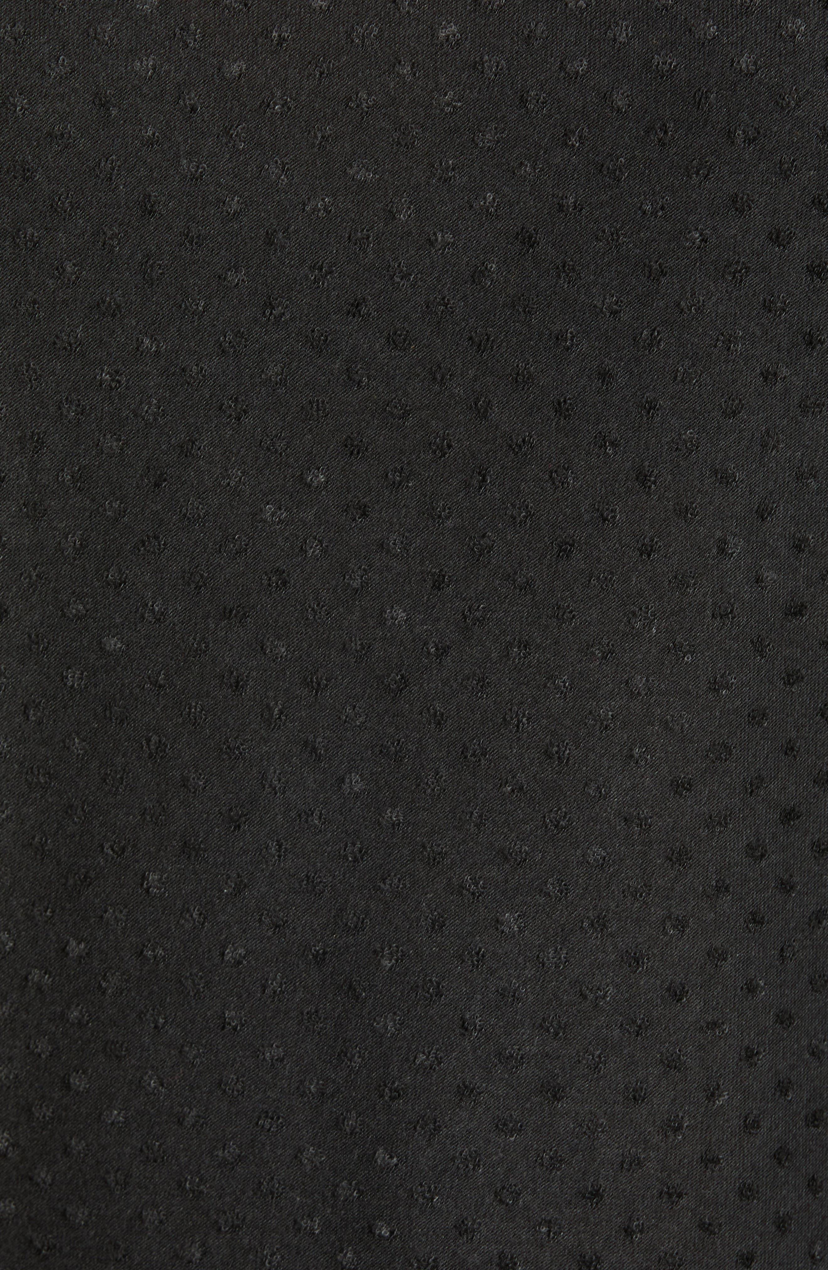 GIBSON,                             x International Women's Day Rebecca Clip Dot Ruffle Sleeve Blouse,                             Alternate thumbnail 5, color,                             CHARCOAL