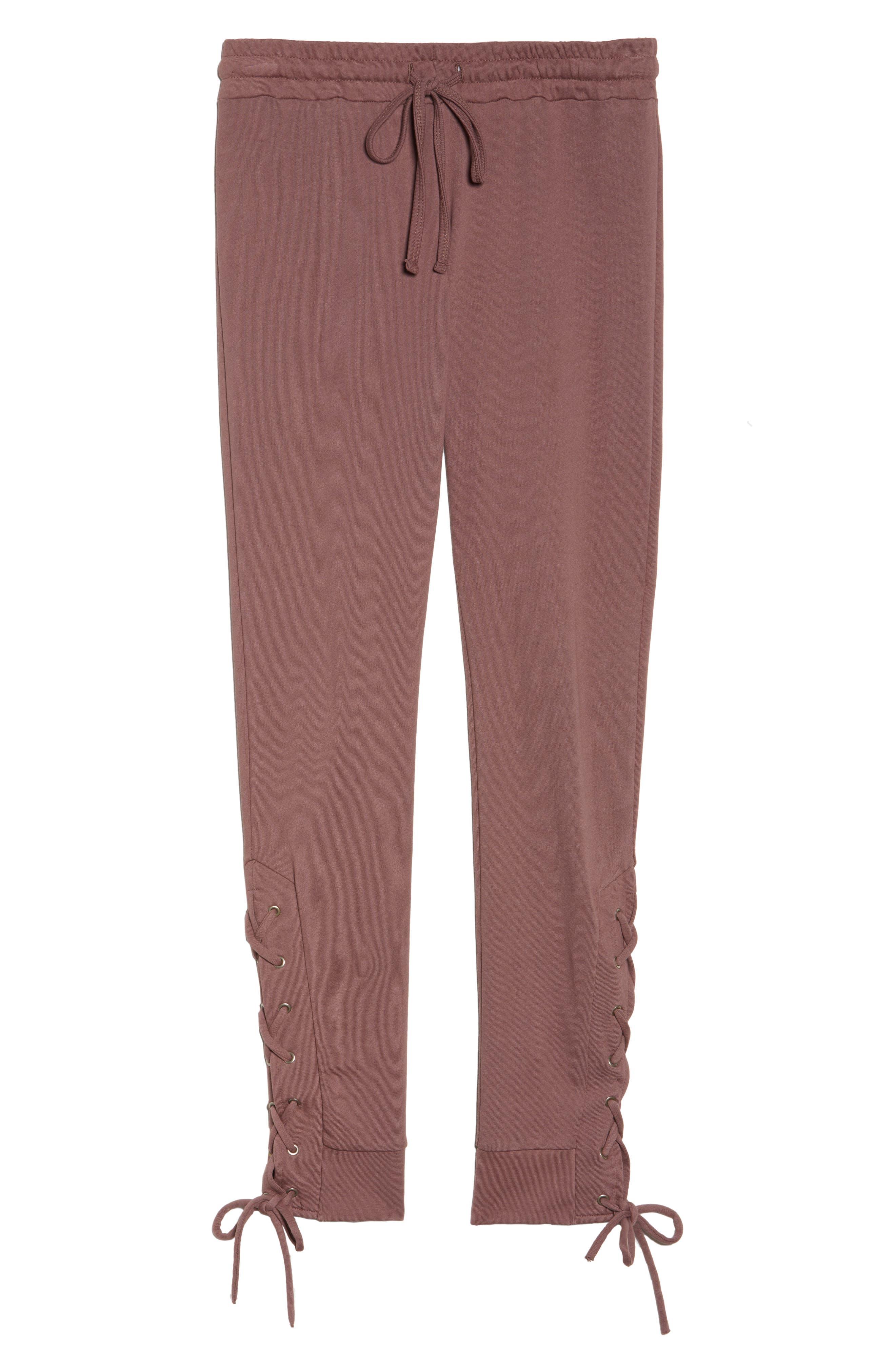 Lace Up Lounge Pants,                             Alternate thumbnail 12, color,