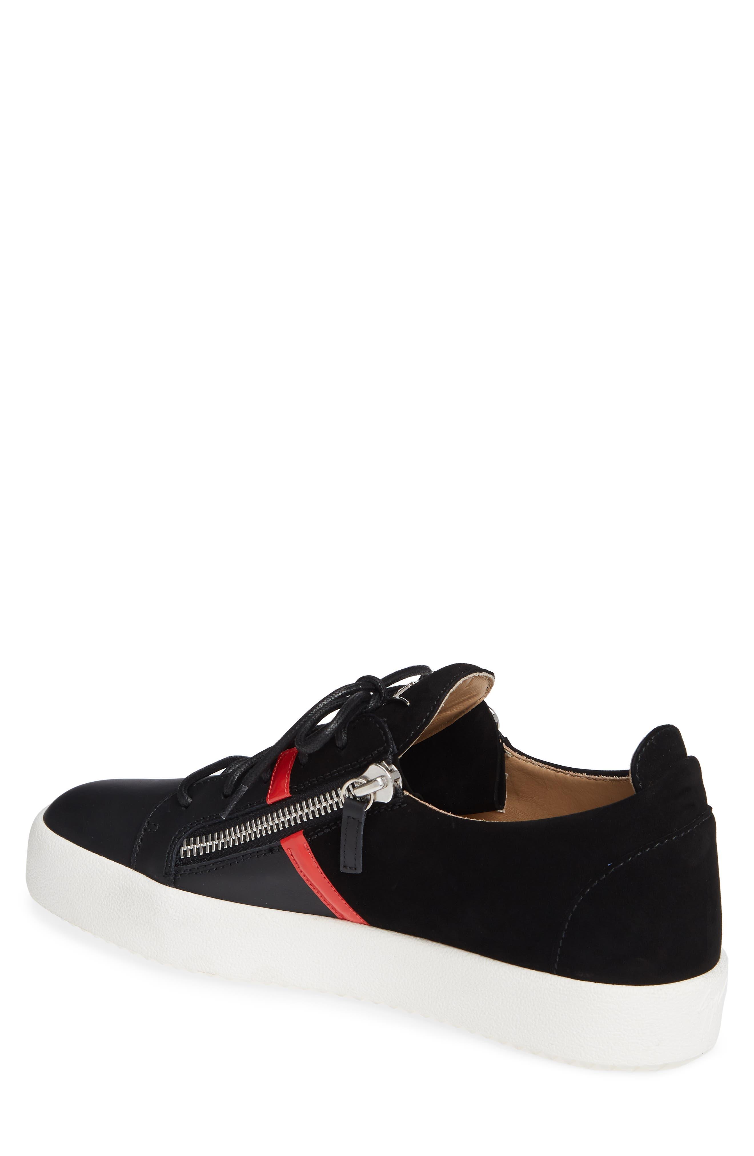 Low Top Stripe Sneaker,                             Alternate thumbnail 2, color,                             BLACK
