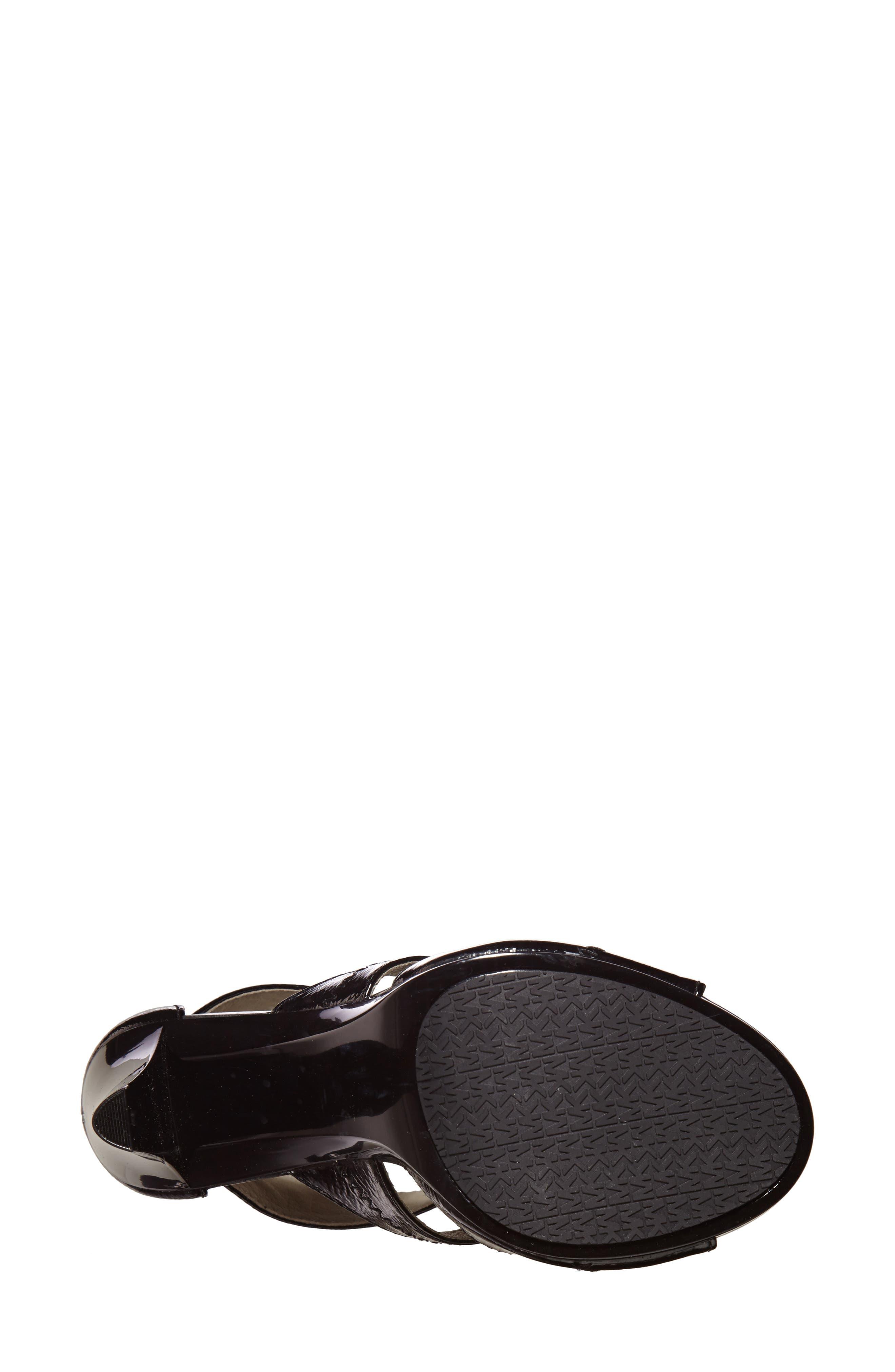 Berkley Sandal,                             Alternate thumbnail 6, color,                             BLACK CRINKLED PATENT