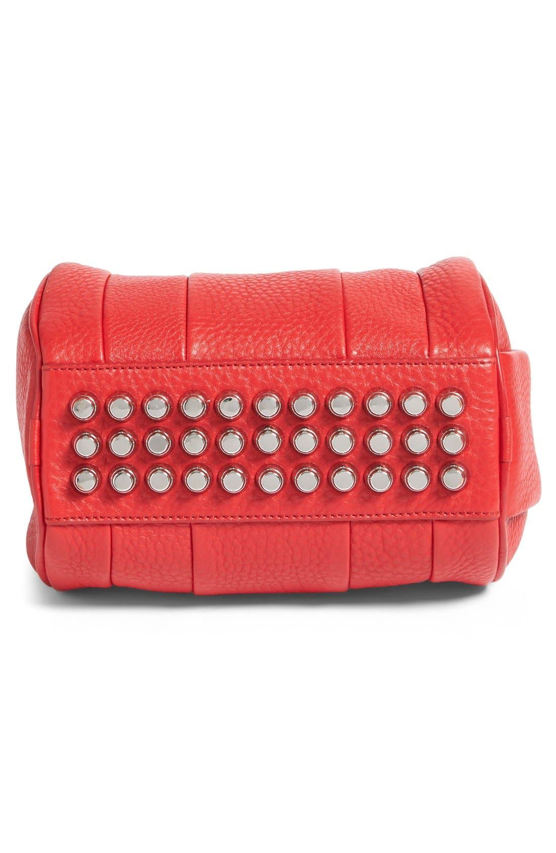 'Mini Rockie - Nickel' Leather Crossbody Satchel,                             Alternate thumbnail 6, color,