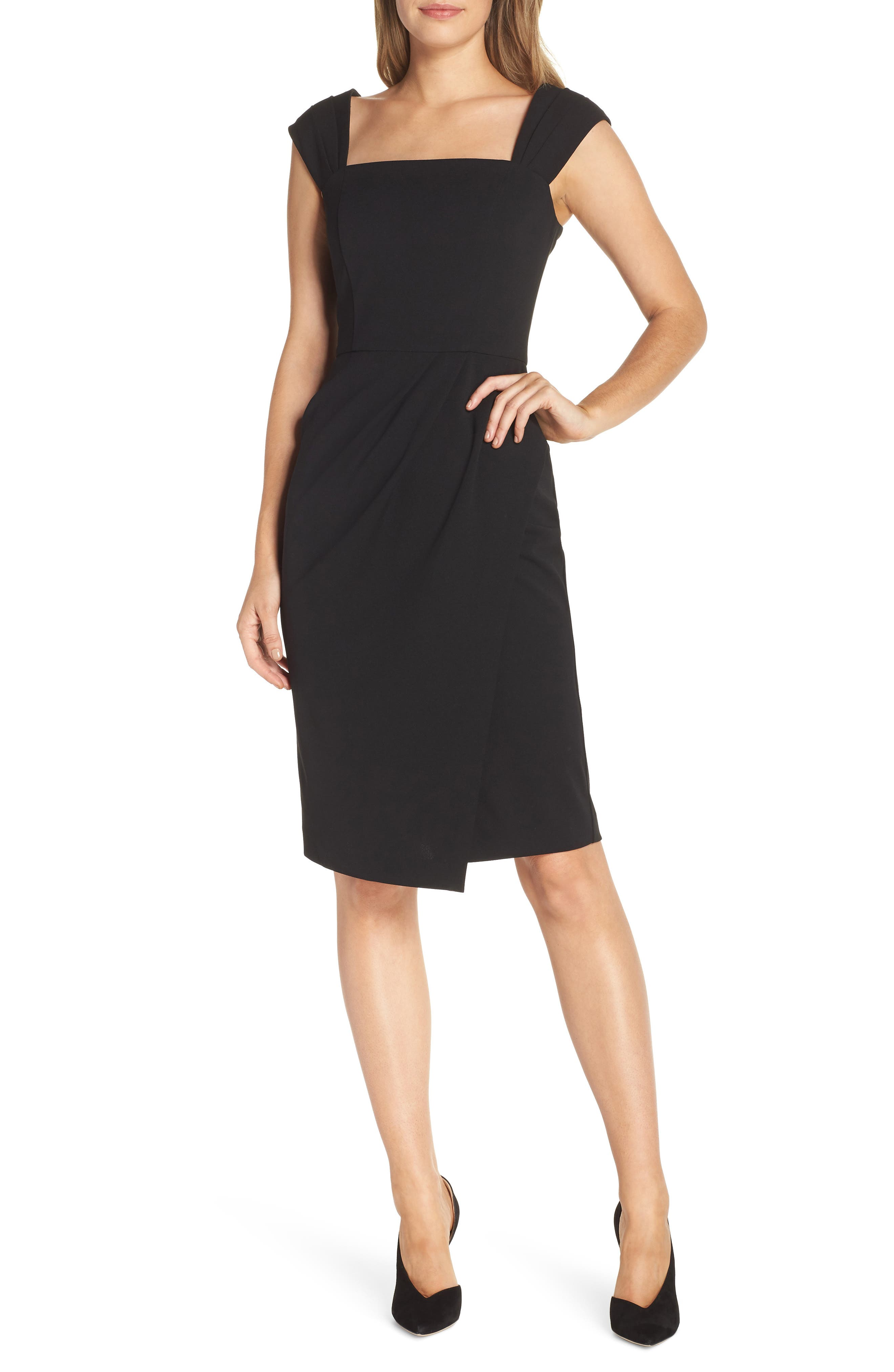 Vince Camuto Crepe Body-Con Dress, Black