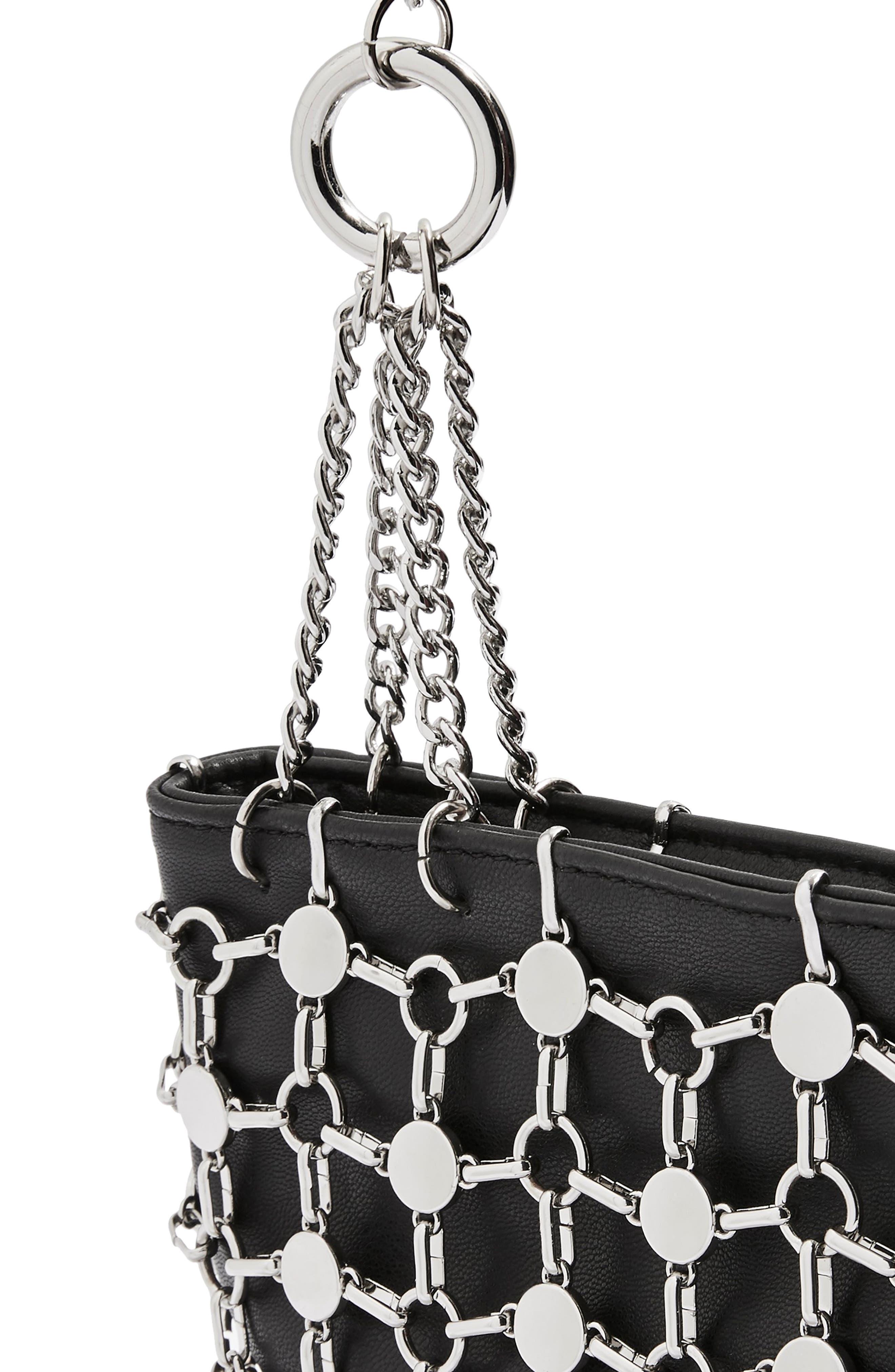 Multi Chain Shoulder Bag,                             Alternate thumbnail 7, color,                             001