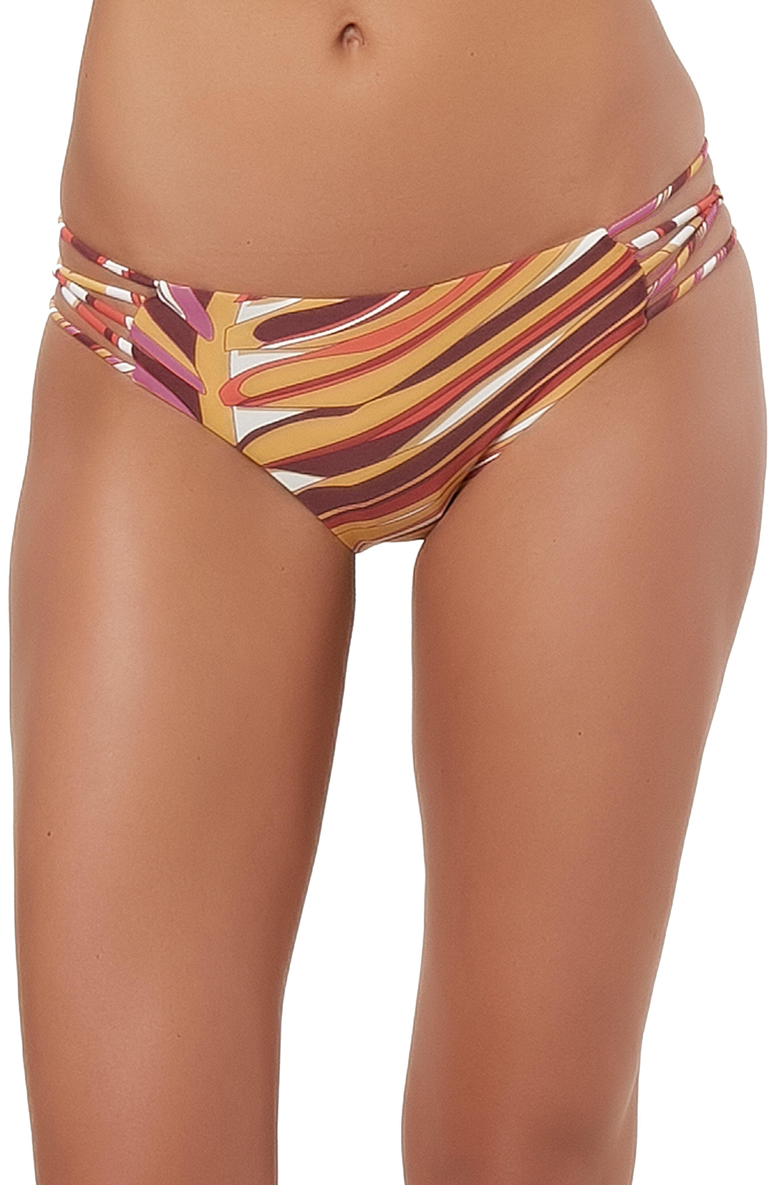 Anacapa Strappy Hipster Bikini Bottoms,                         Main,                         color, PURPLE MAUVE
