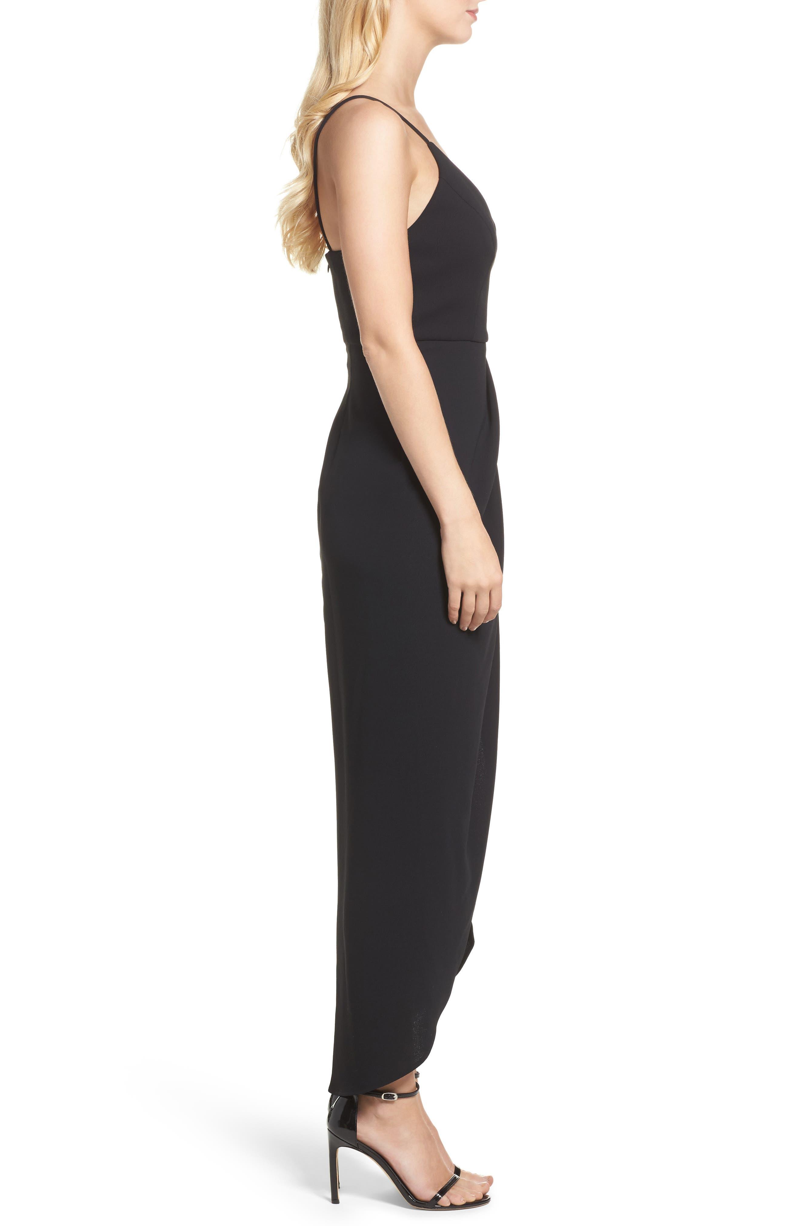 High/Low Dress,                             Alternate thumbnail 3, color,                             BLACK