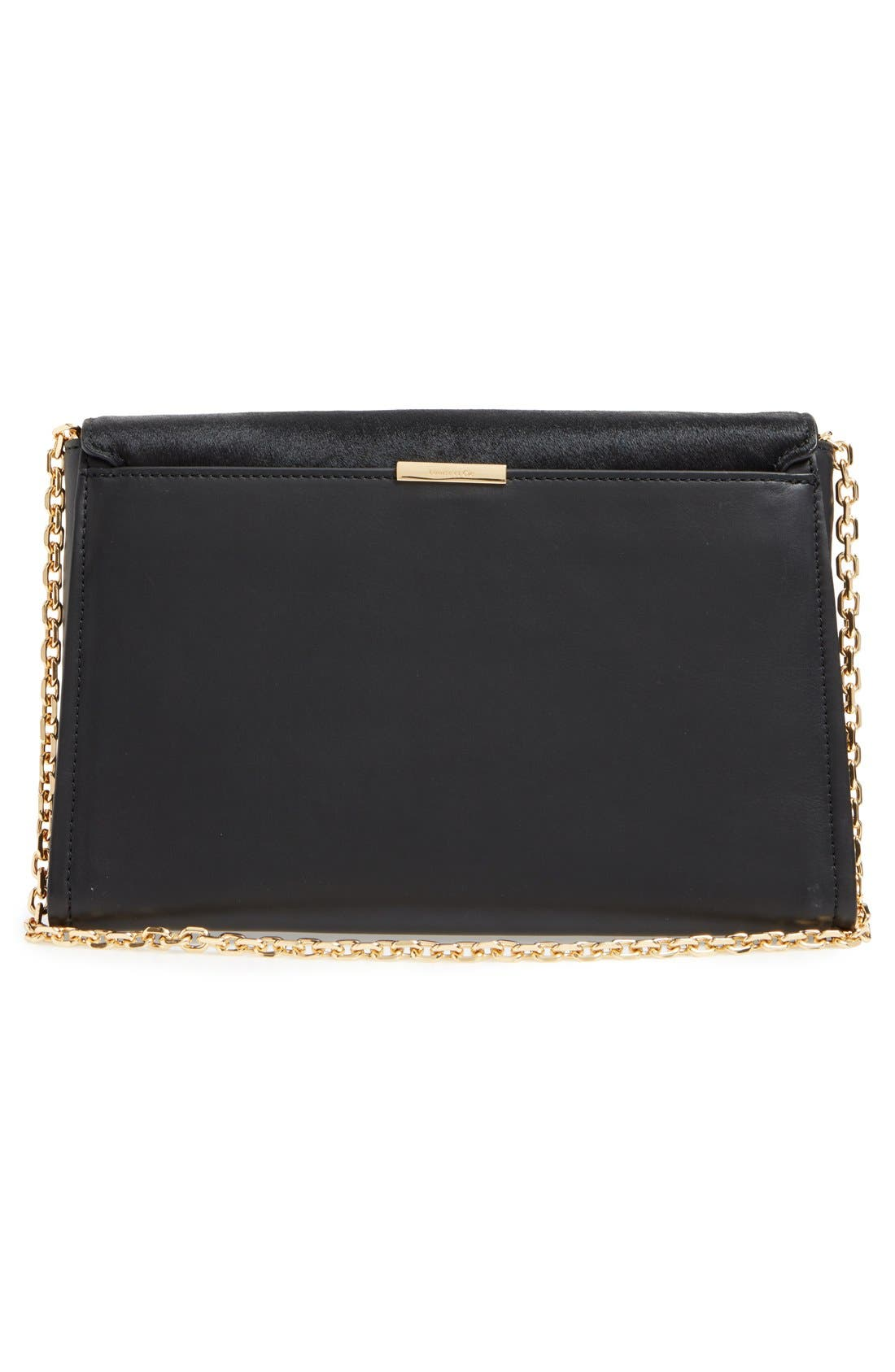 'Towa' Leather Clutch,                             Alternate thumbnail 5, color,                             001