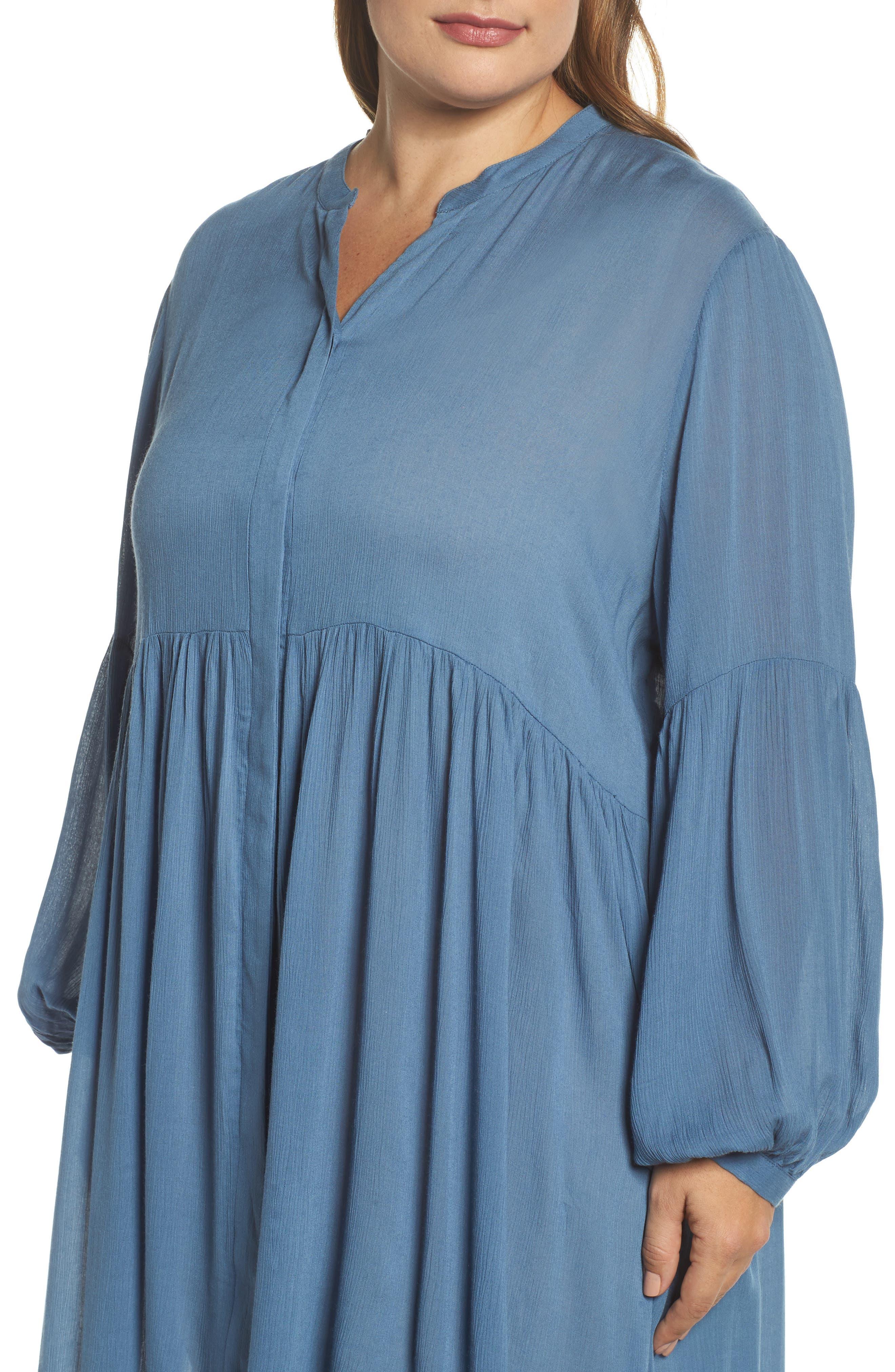 Button Front Shirtdress,                             Alternate thumbnail 4, color,                             455