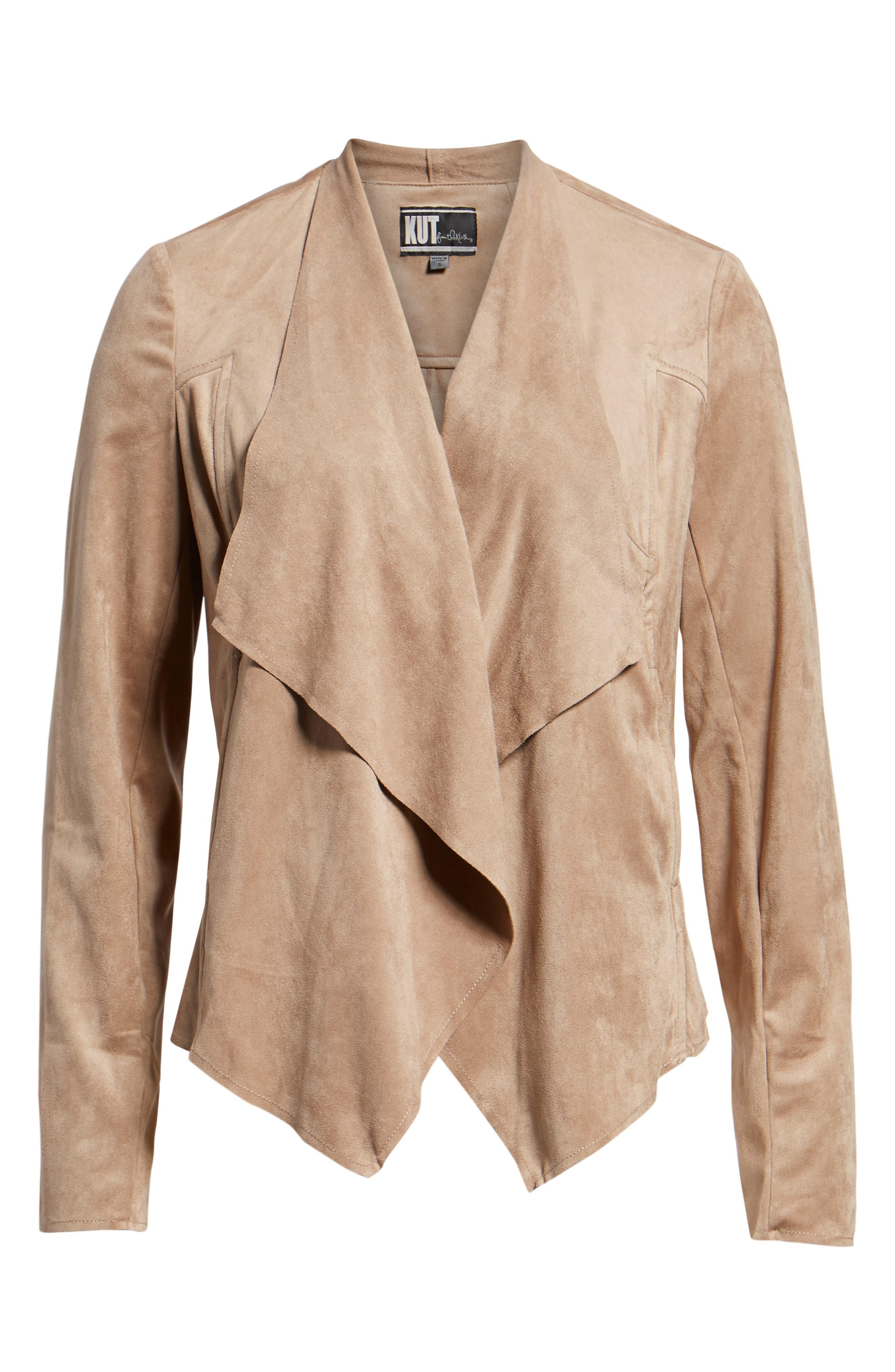 Tayanita Faux Suede Jacket,                             Alternate thumbnail 6, color,                             380