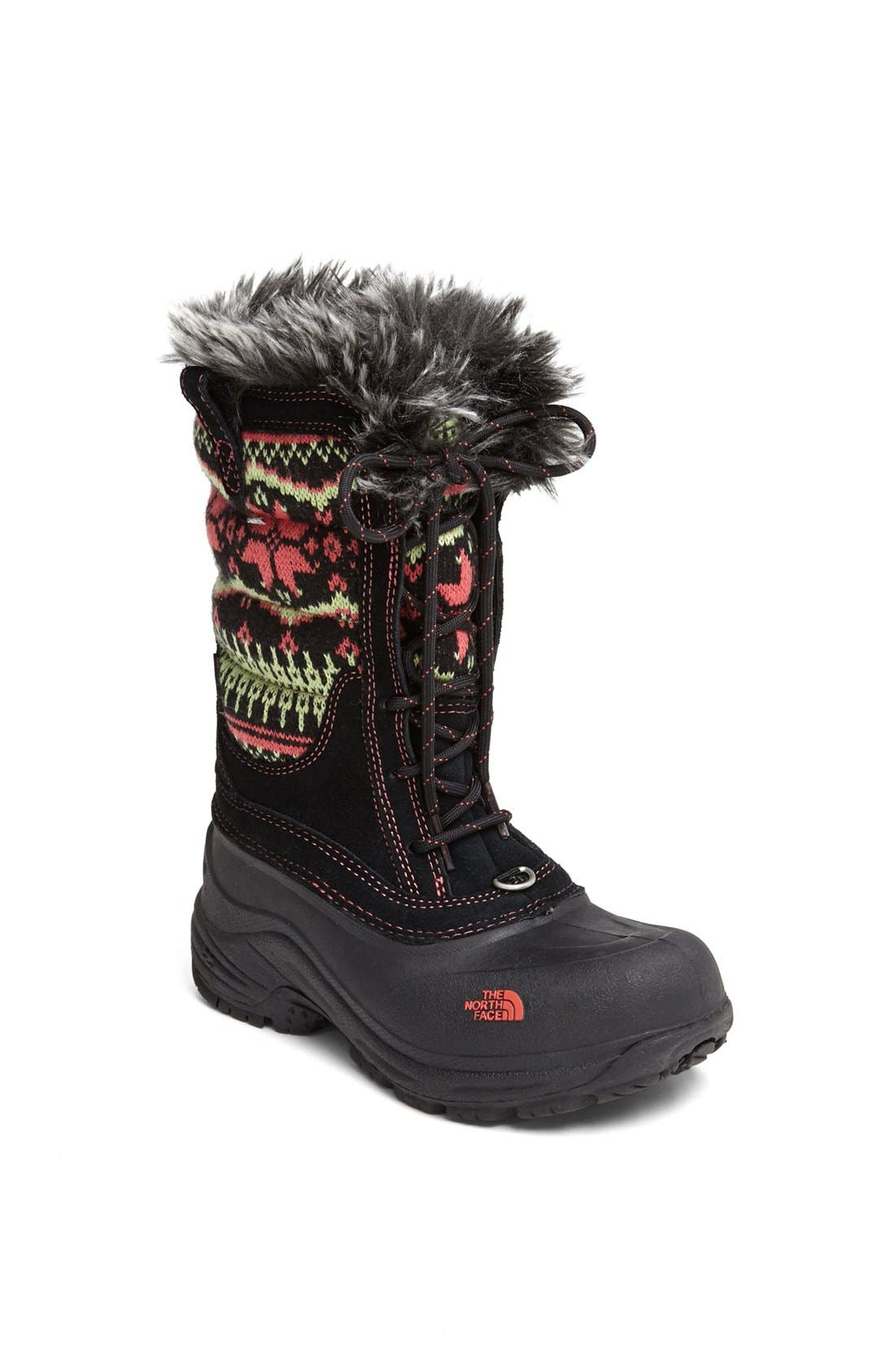'Shellista' Lace Up Snow Boot, Main, color, 001