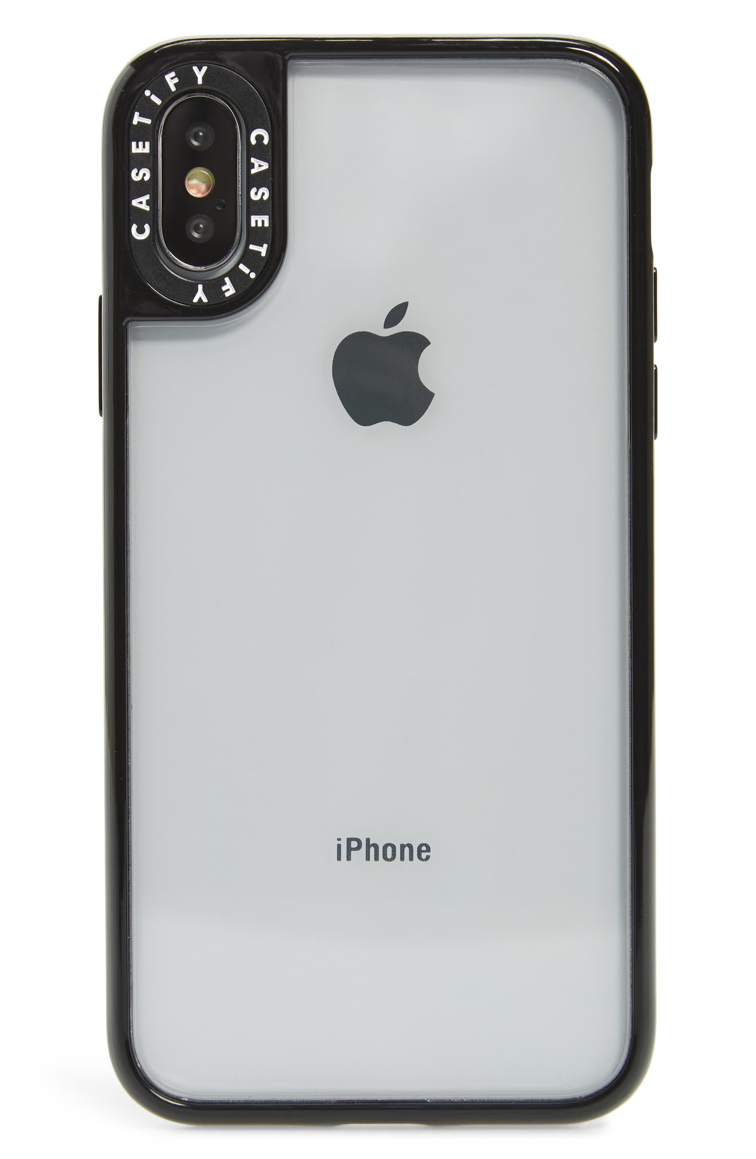 Classic Transparent iPhone X/Xs/Xs Max & XR Case,                             Main thumbnail 1, color,                             BLACK