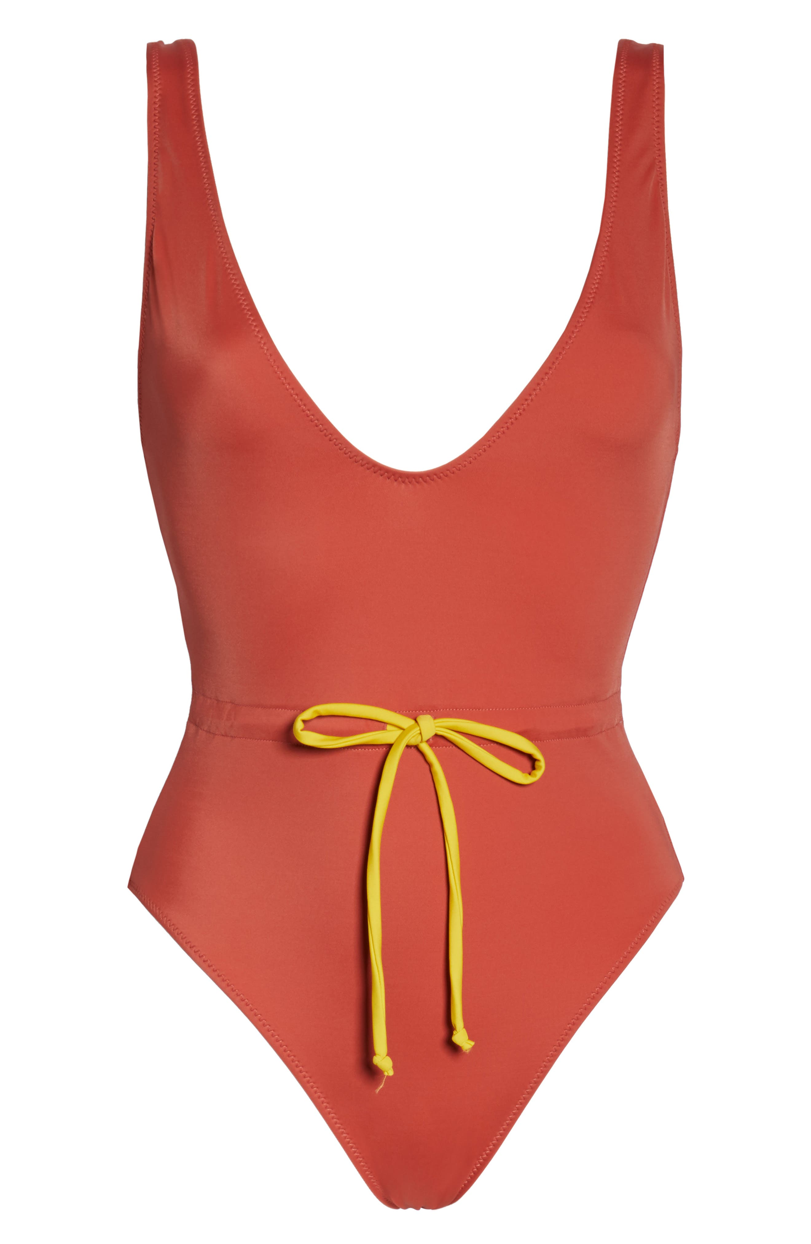 SOLID & STRIPED,                             Michelle Tie Waist One-Piece Swimsuit,                             Alternate thumbnail 6, color,                             RAID