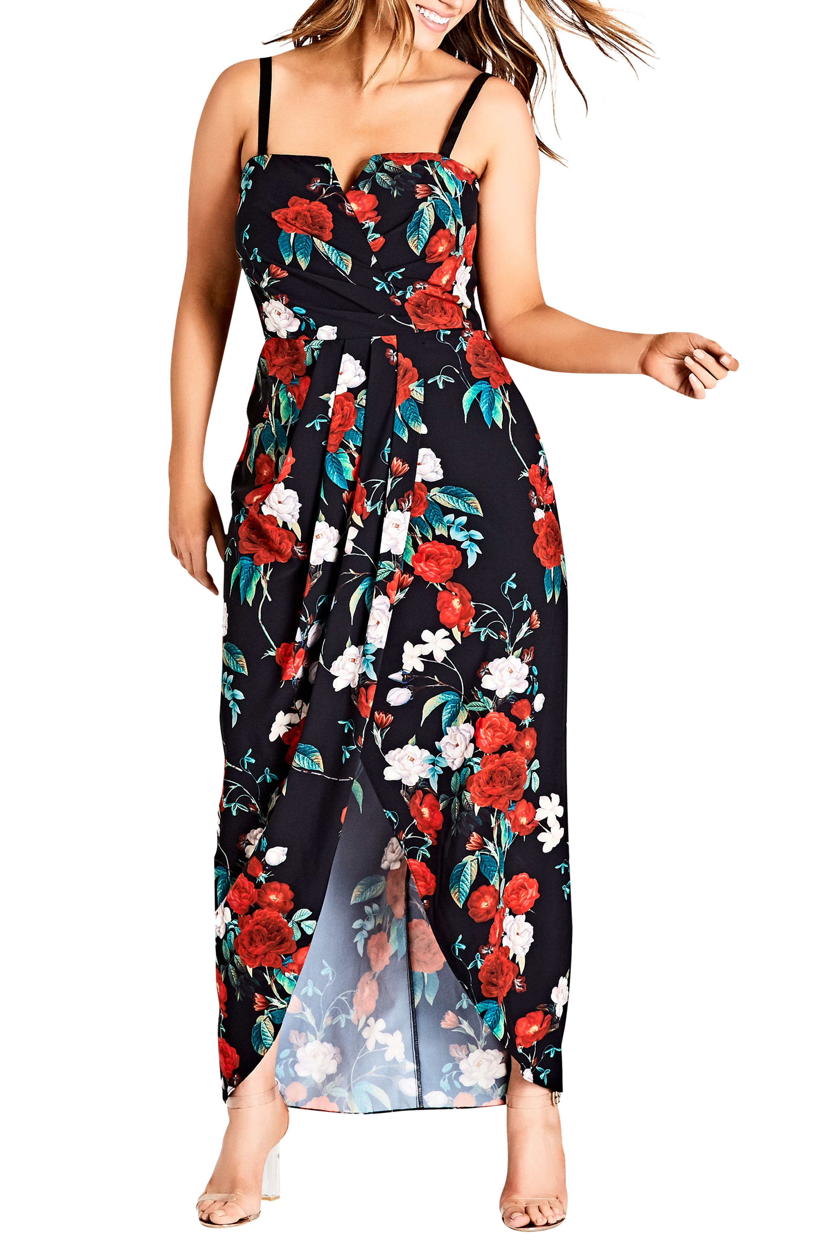 Come Hither Maxi Dress,                             Alternate thumbnail 3, color,                             ROSE ADORE