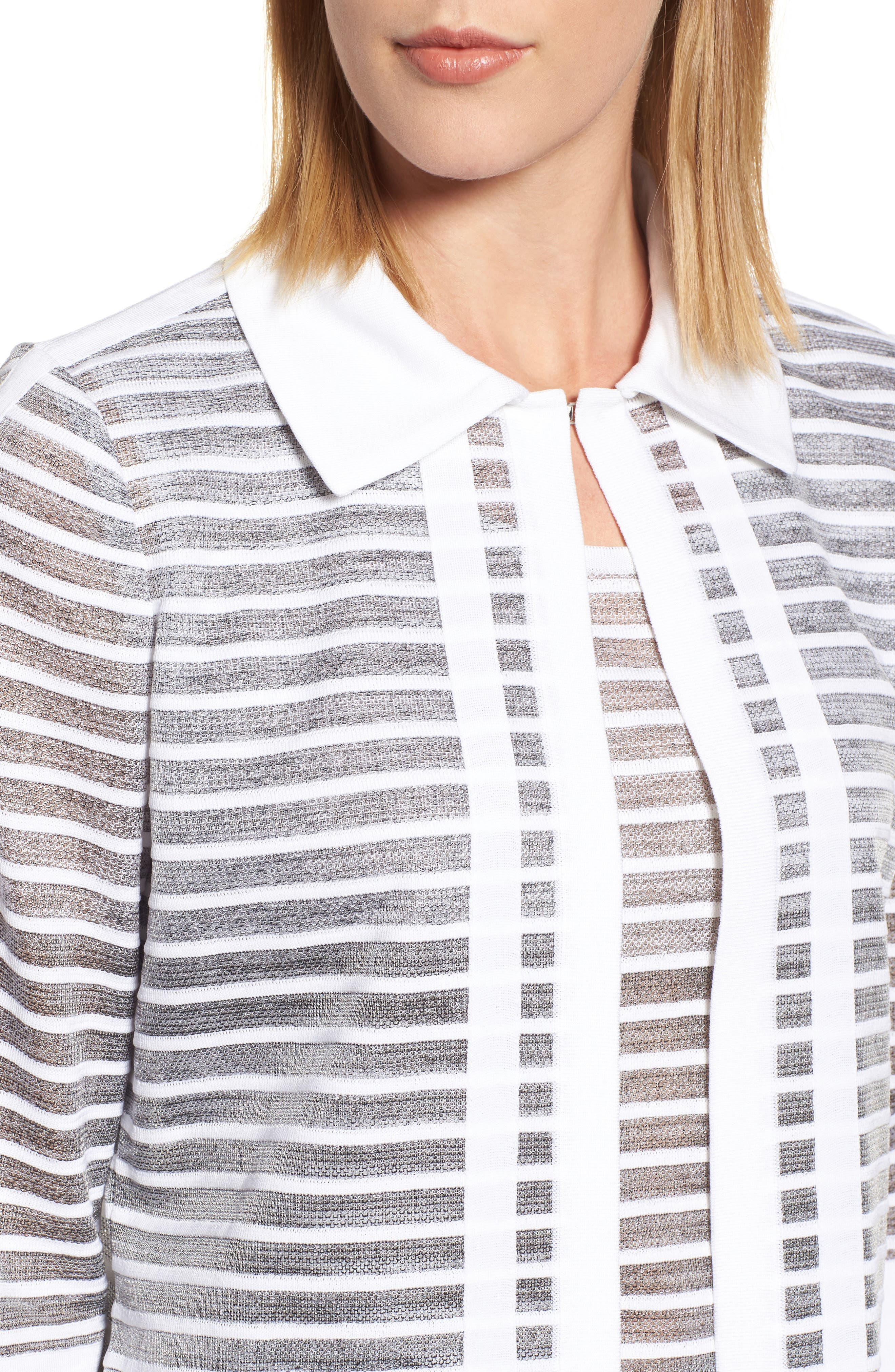 Stripe Jacquard Jacket,                             Alternate thumbnail 4, color,                             102