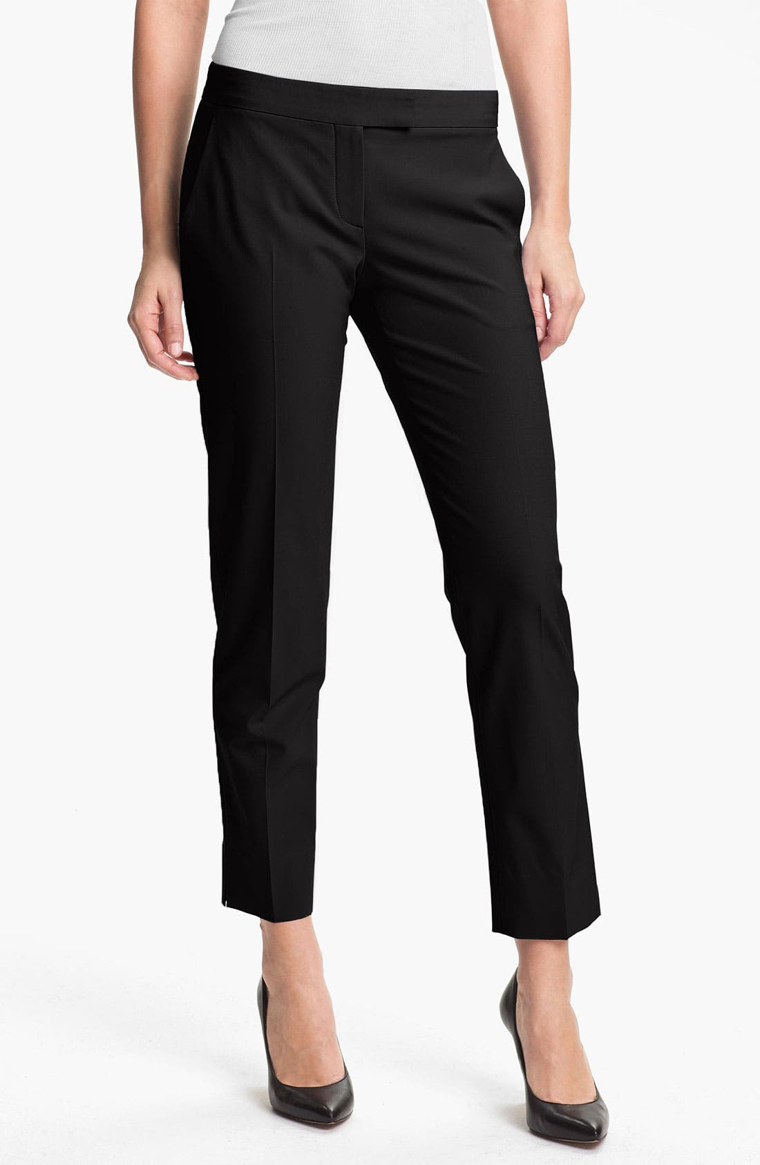 'Ibbey' Crop Trousers,                             Main thumbnail 1, color,                             001