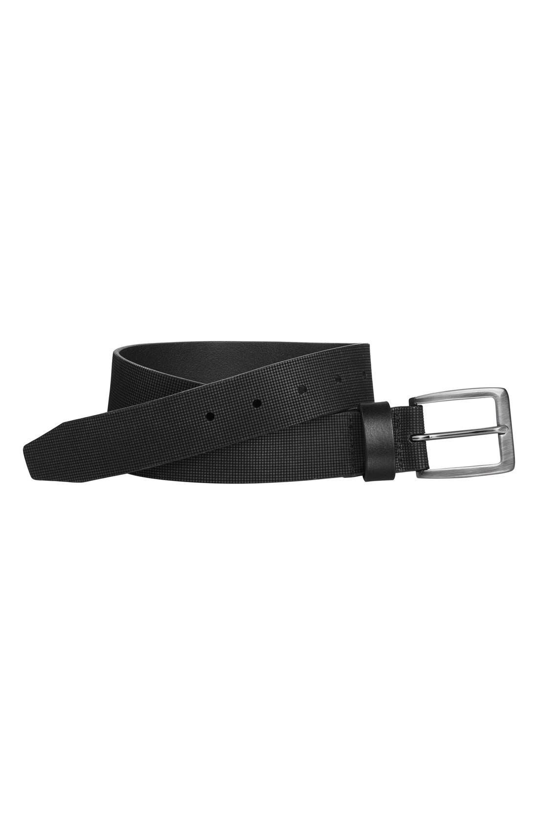 Leather Belt,                             Alternate thumbnail 2, color,                             GREY