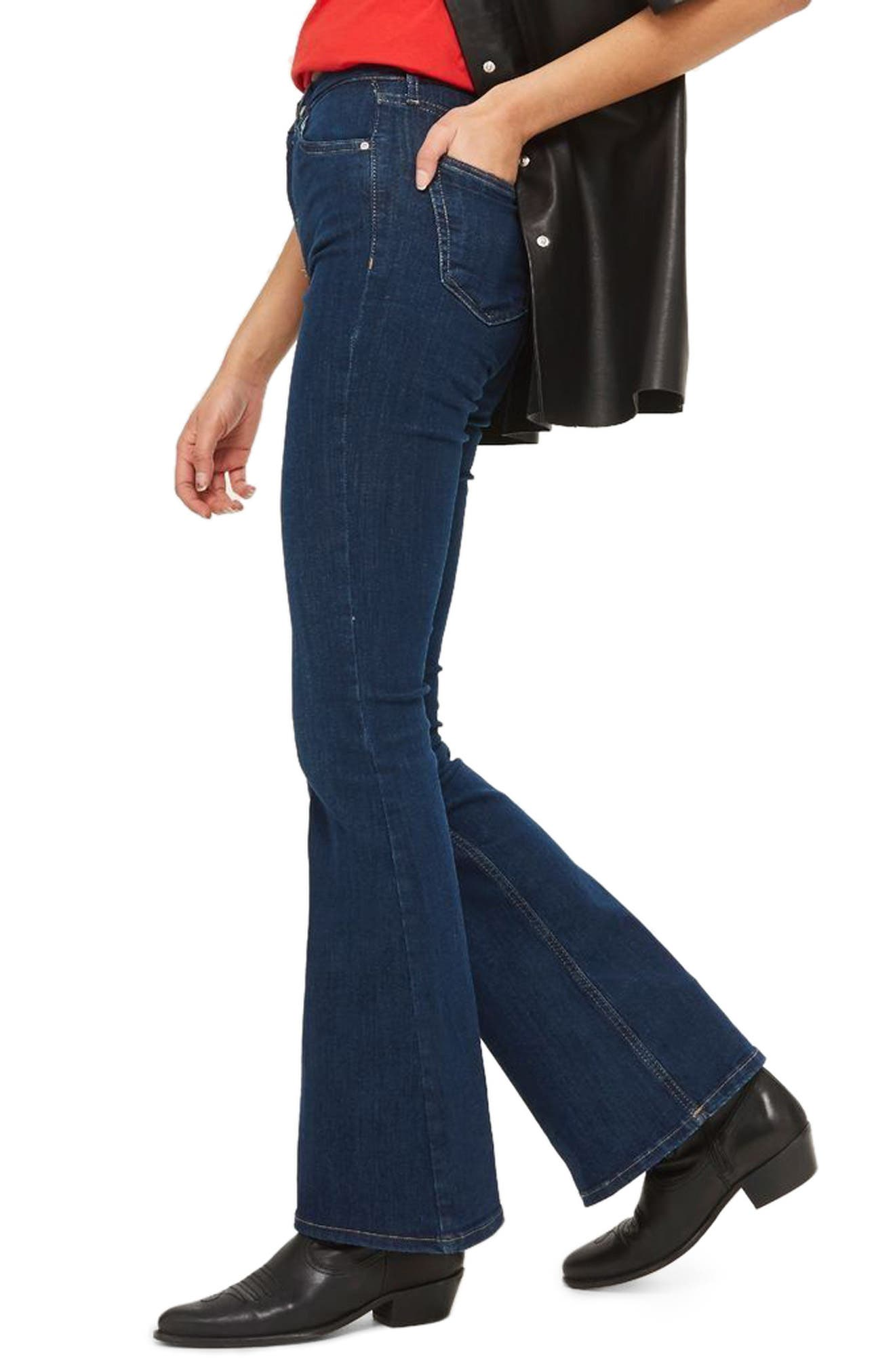 Jamie Flare Jeans,                             Alternate thumbnail 7, color,