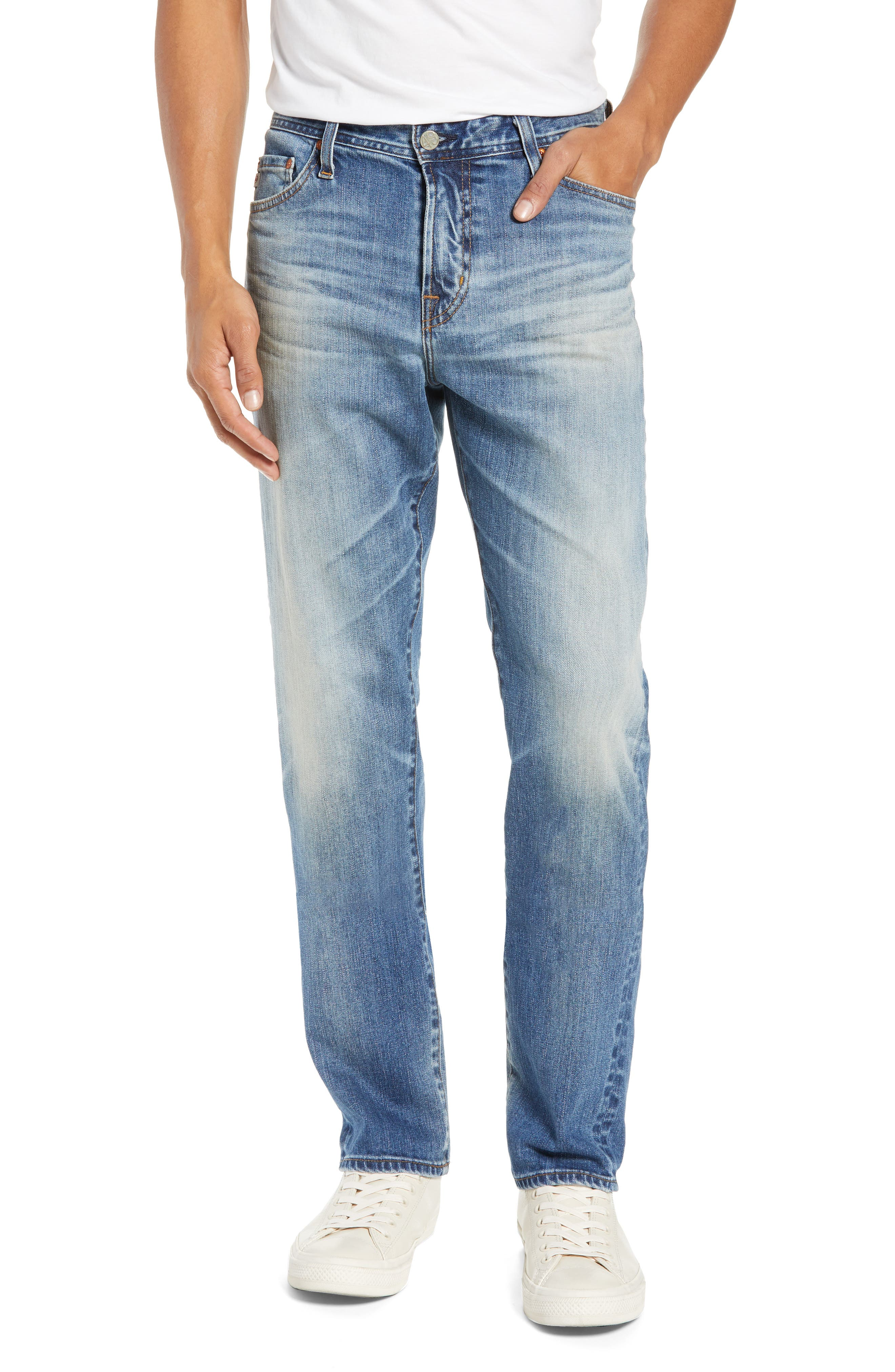 Everett Slim Straight Leg Jeans, Main, color, 21 YEARS SEIZE