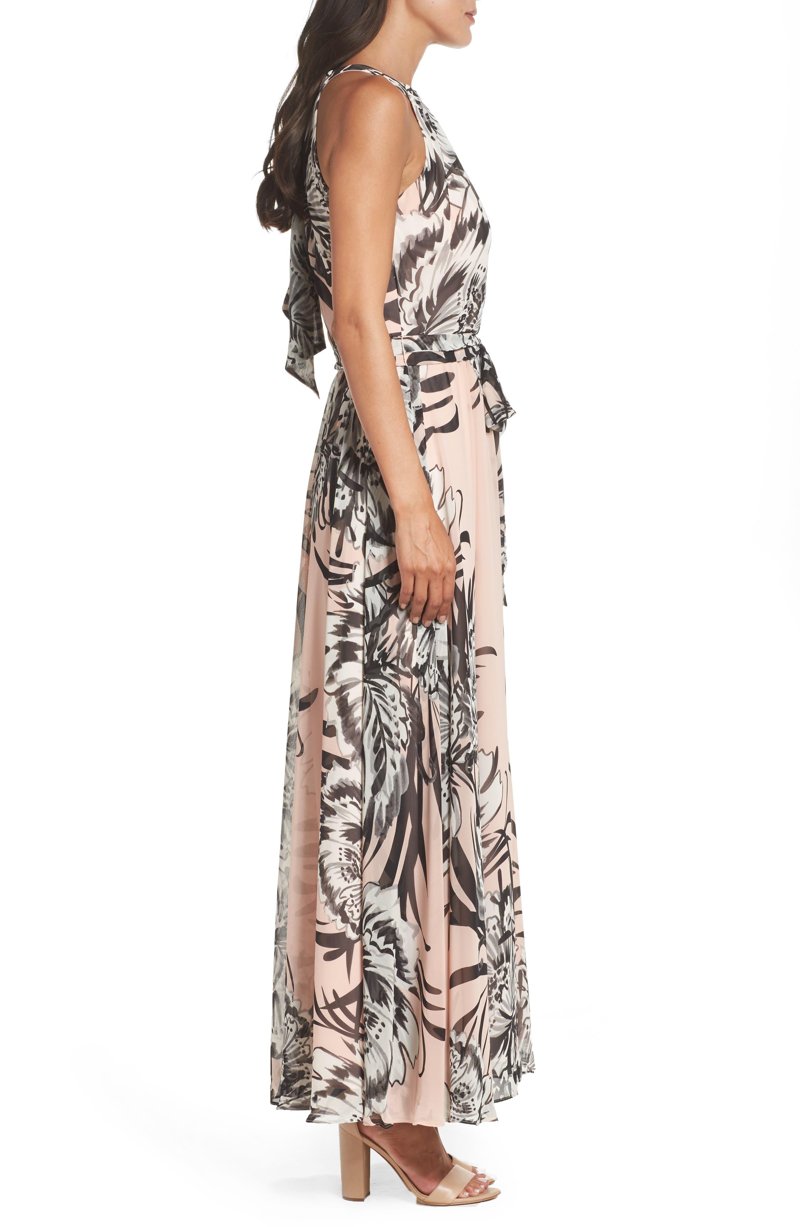 Chiffon Maxi Dress,                             Alternate thumbnail 4, color,                             BLUSH