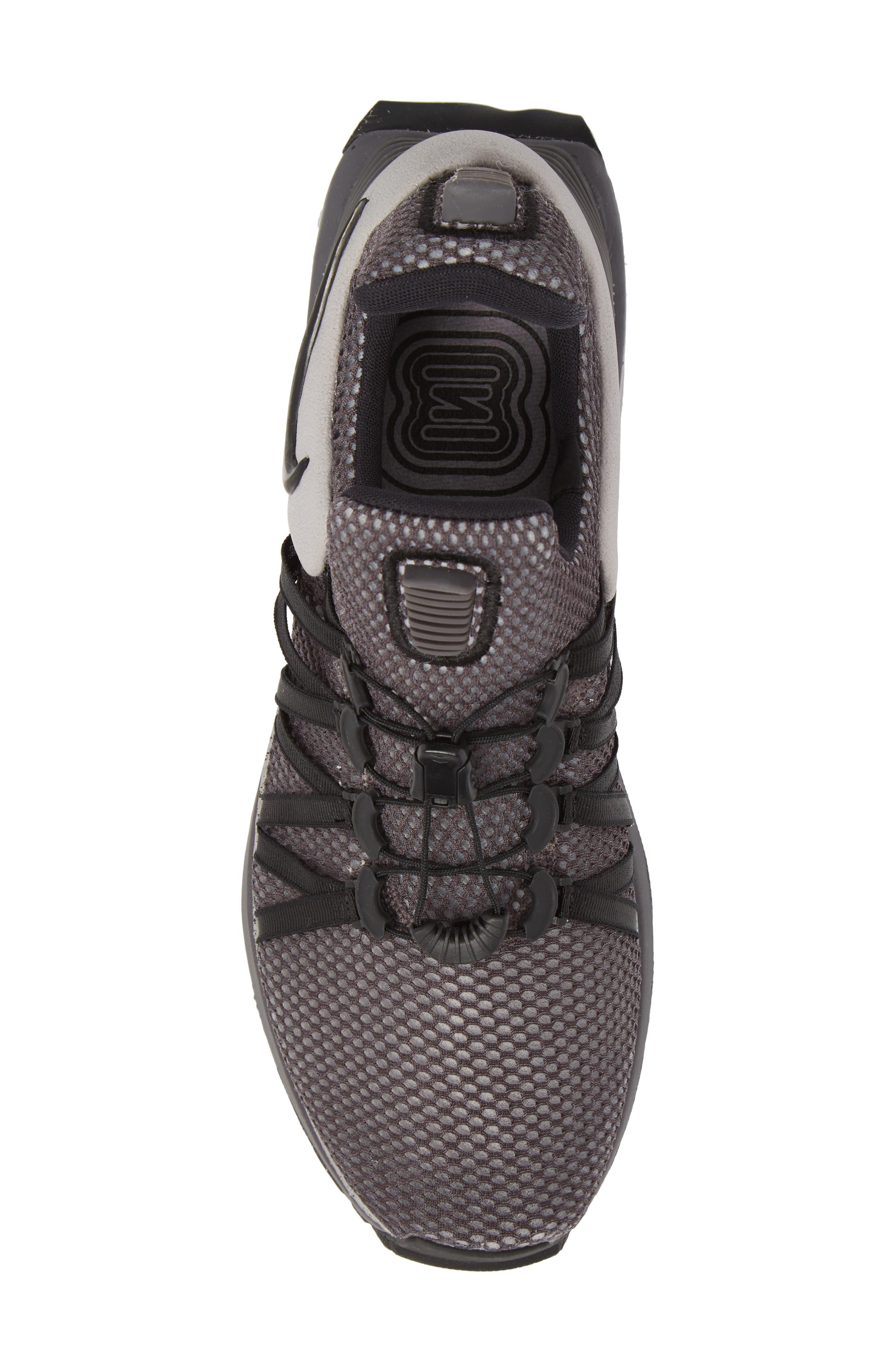 Shox Gravity Sneaker,                             Alternate thumbnail 5, color,                             ATMOSPHERE GREY/ BLACK/ GREY