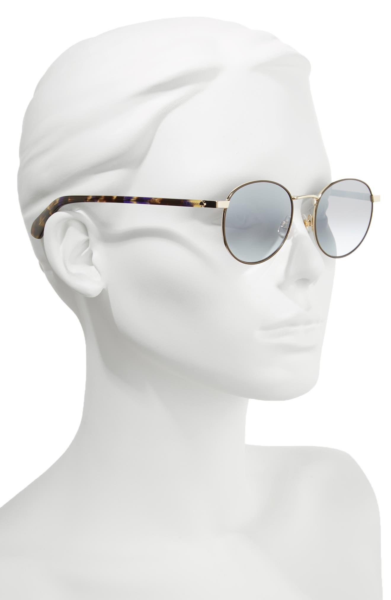 adelais 50mm round sunglasses,                             Alternate thumbnail 6, color,