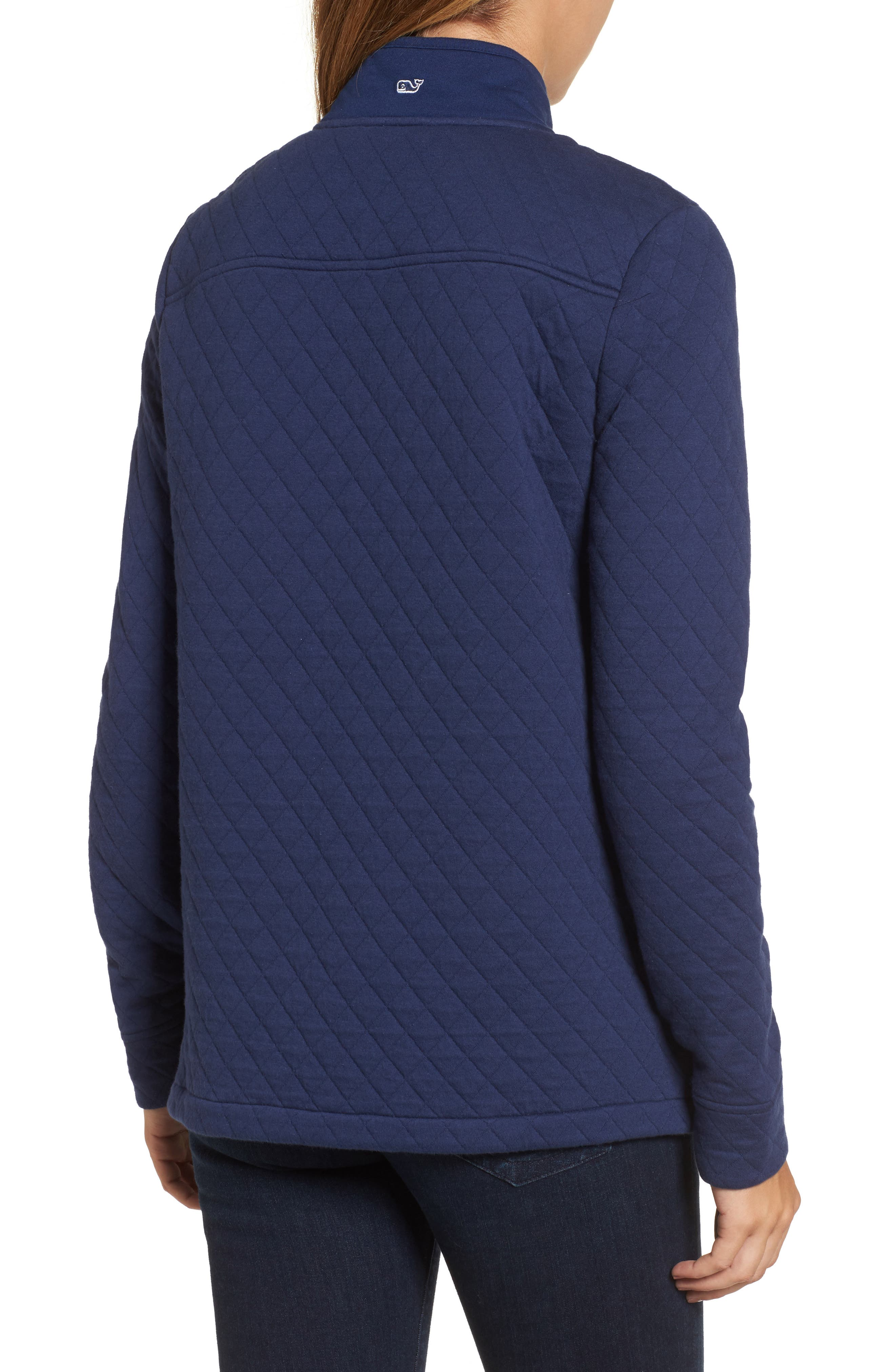 Shep Quilted Quarter Zip Pullover,                             Alternate thumbnail 6, color,