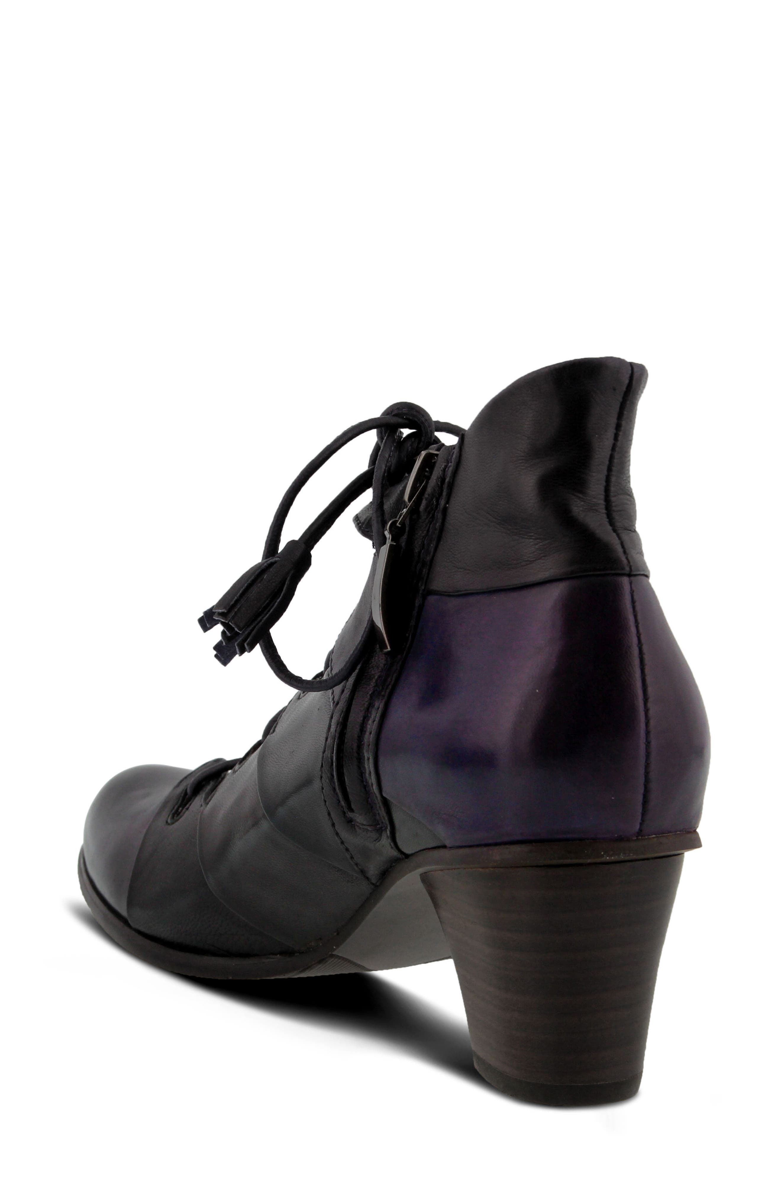 Estrela Ghillie Bootie,                             Alternate thumbnail 2, color,                             PURPLE MULTI LEATHER