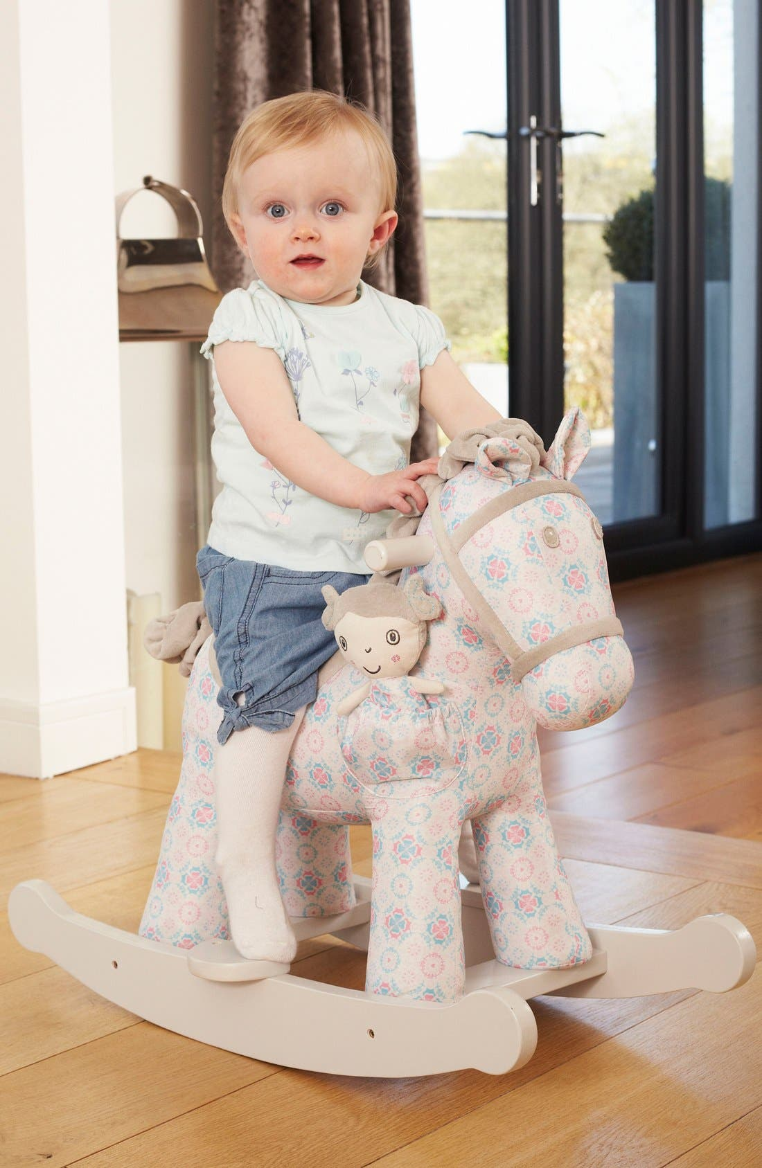 Rosie & Mae Rocking Horse & Stuffed Animal,                             Alternate thumbnail 2, color,